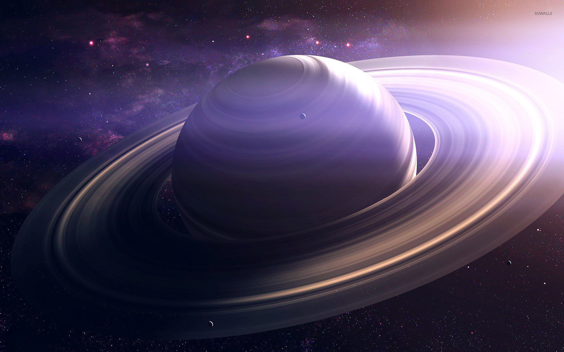 Planet with rings wallpaper jpg