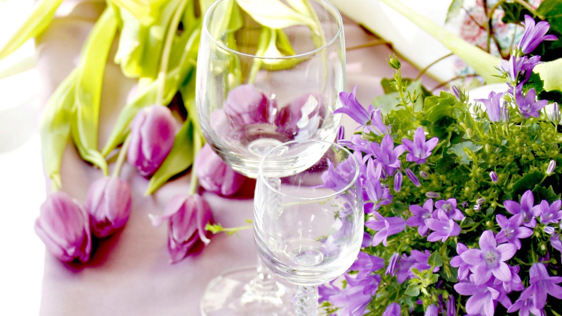#882277 Color – Tulips Still Life Glass Flowers Beautiful Love Glasses  Romance Tulip Pretty Photography