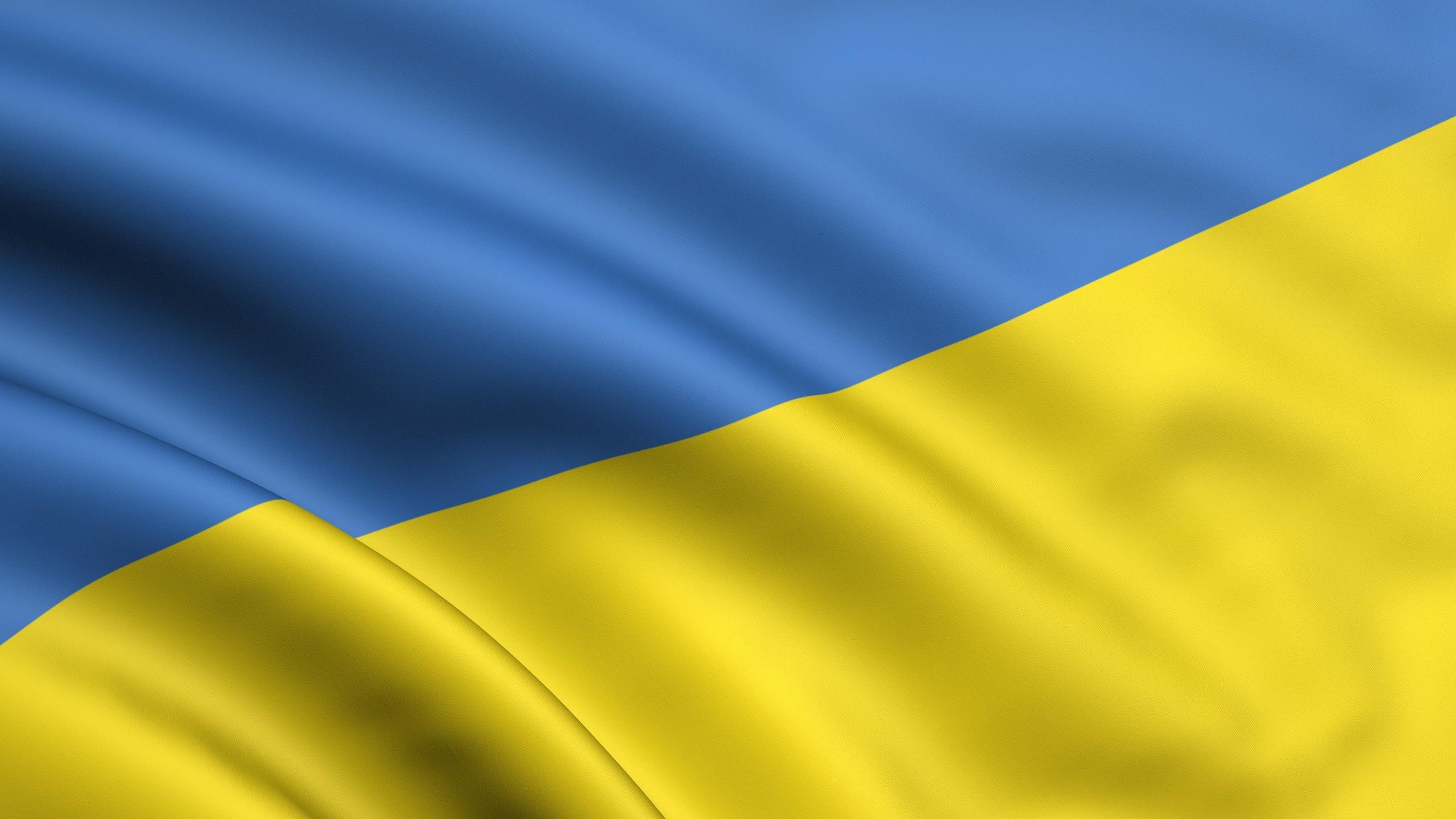 Wallpaper Yellow, Blue, Flag, Ukraine