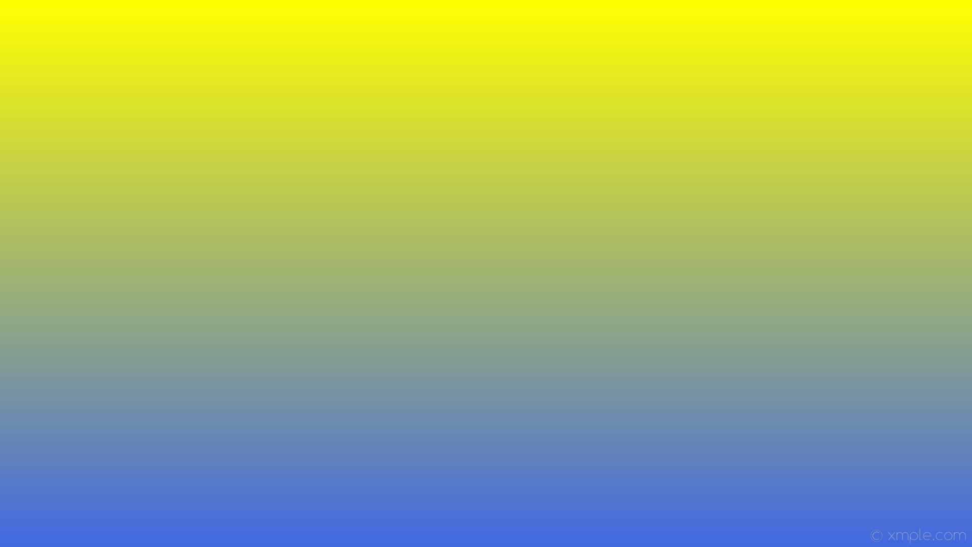 wallpaper yellow blue gradient linear royal blue #ffff00 #4169e1 90°