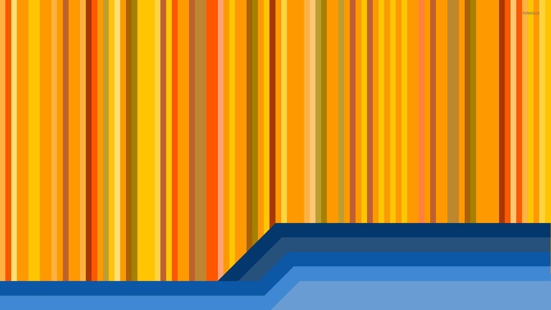 Yellow and blue stripes wallpaper