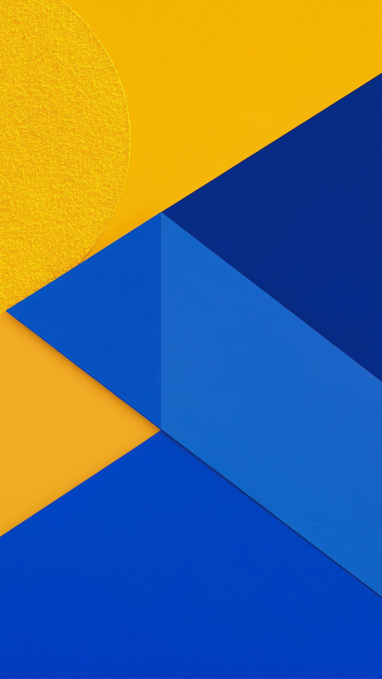Android Marshmallow New Blue Yellow Pattern