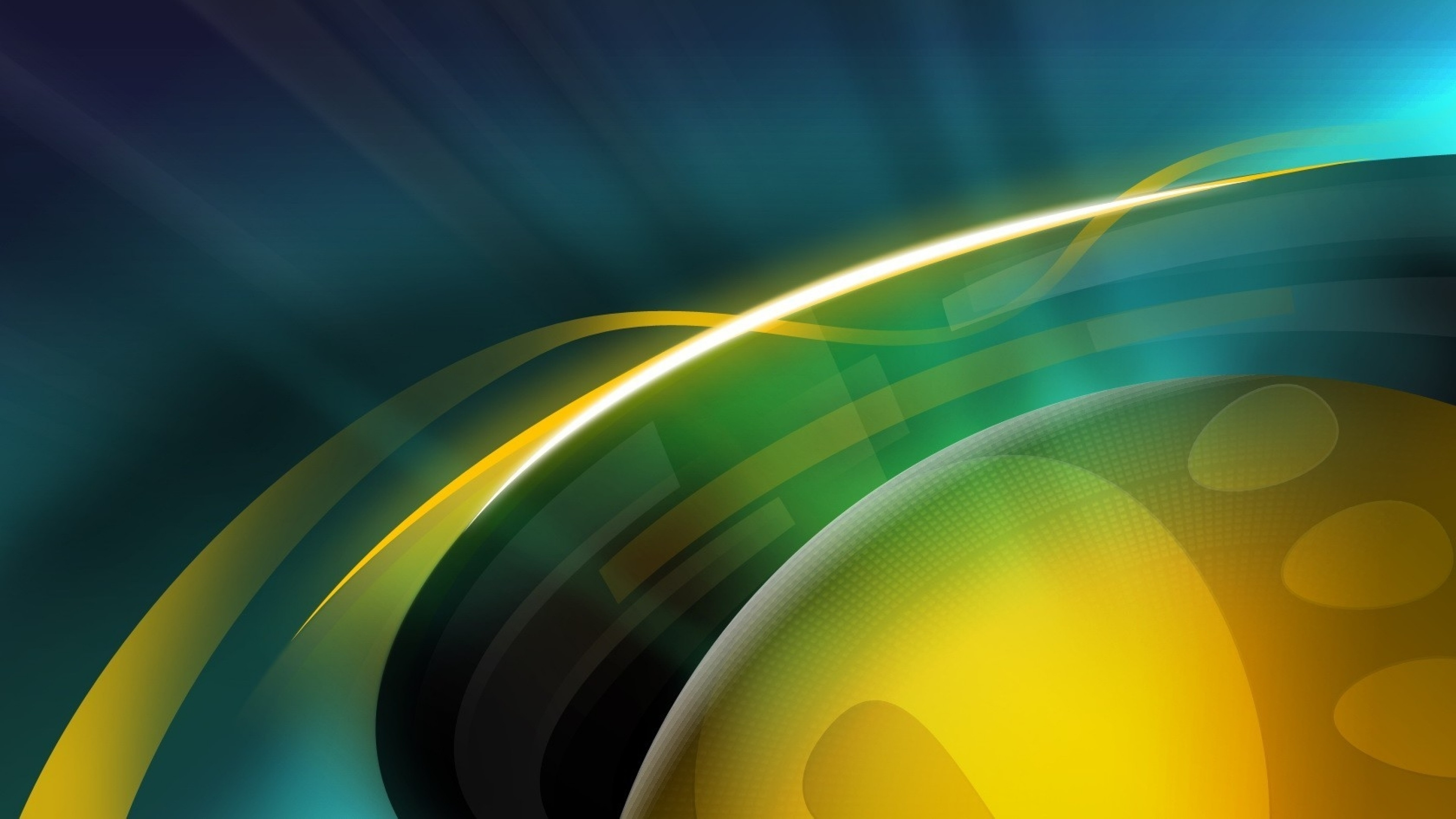 Wallpaper ball, circle, yellow, blue, green