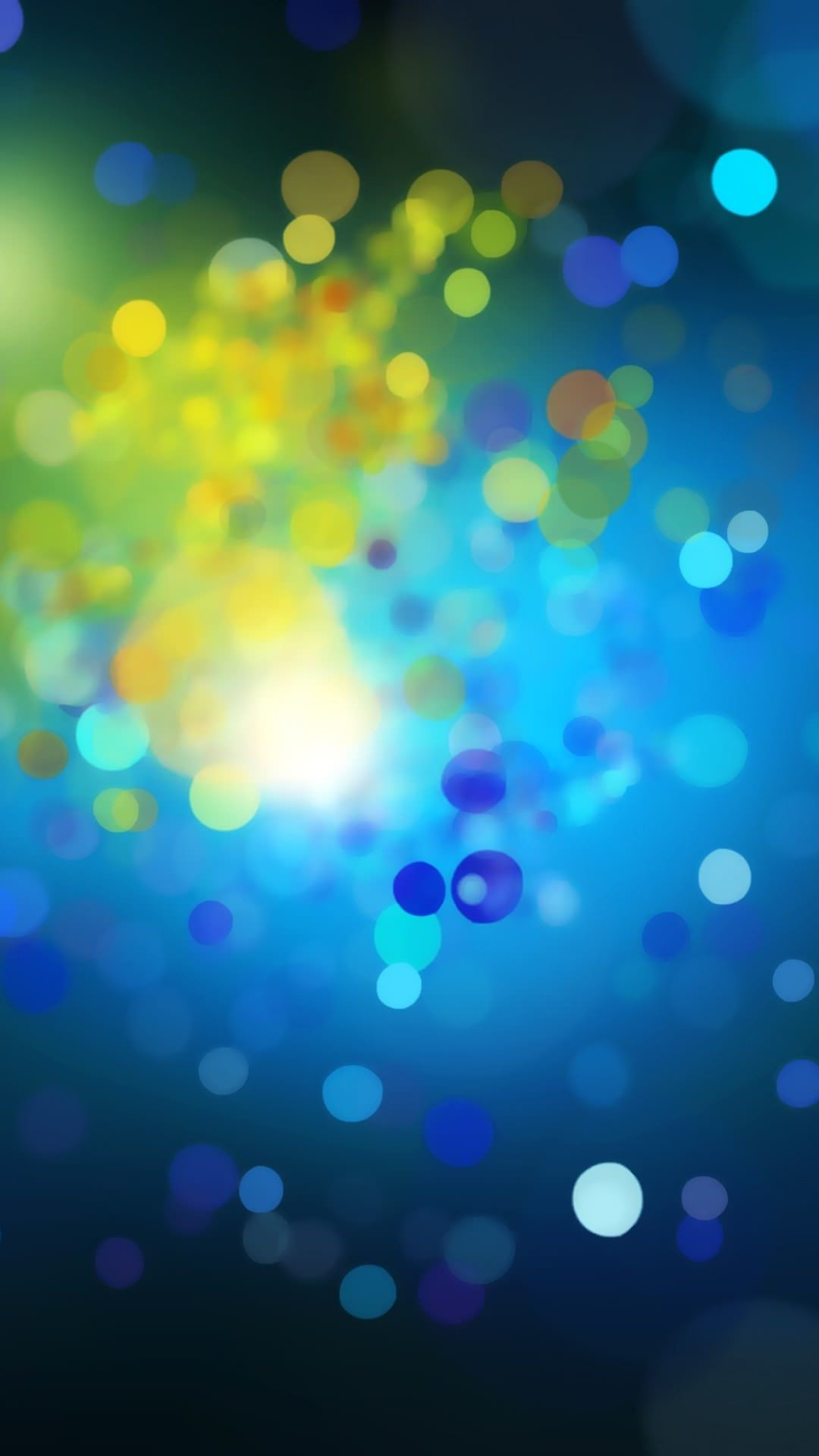 Pattern, blue and yellow Android SmartPhone Wallpaper