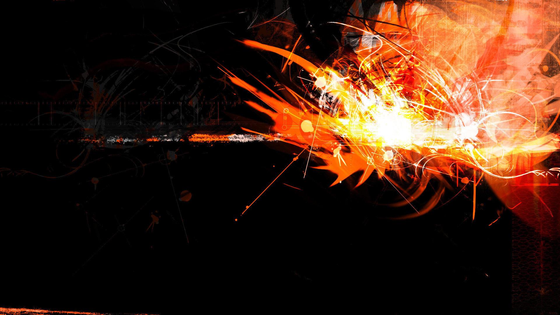 hd pics photos abstract neon black orange hd quality desktop background  wallpaper