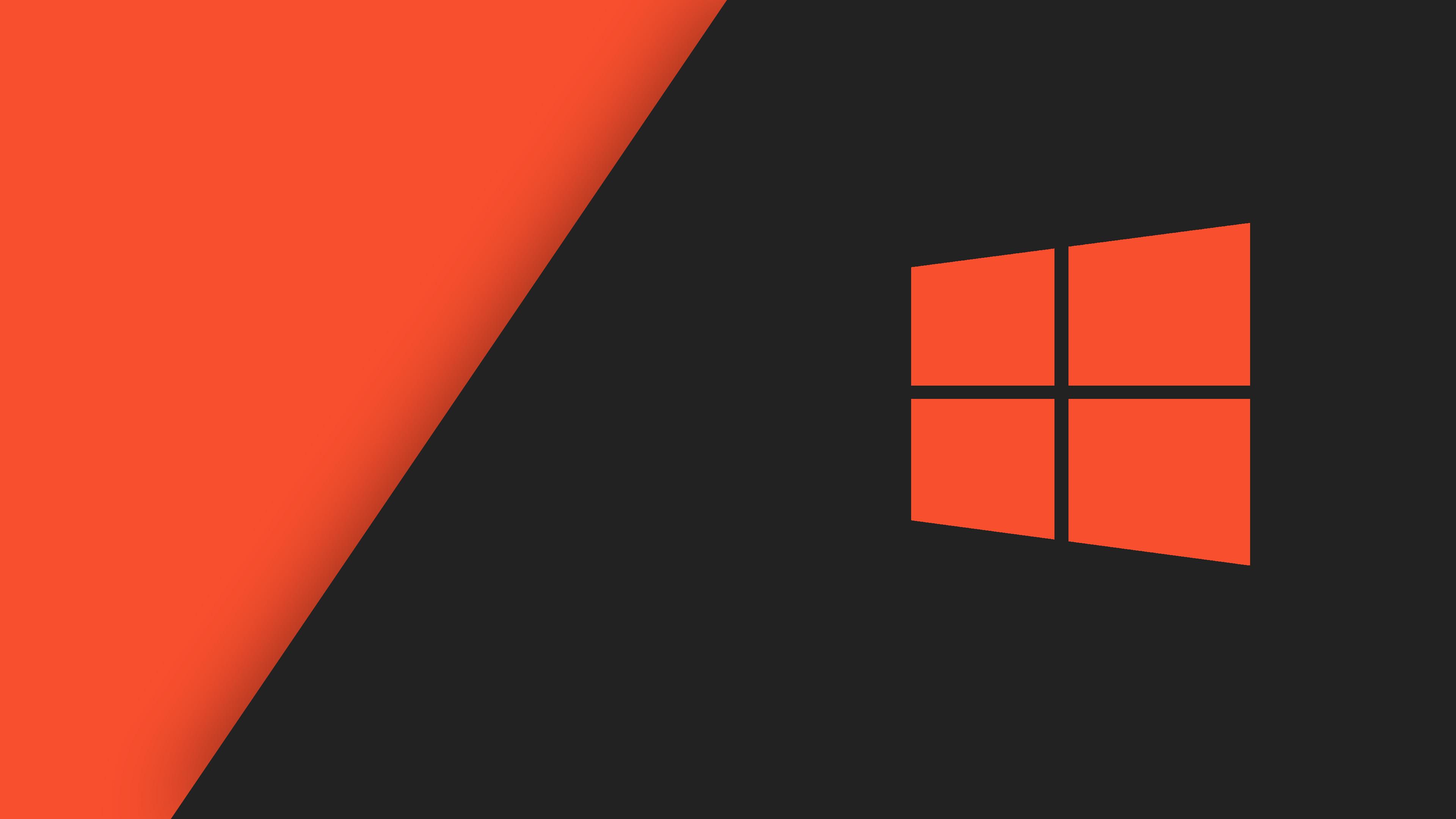 Orange Black Windows 10 HD Wallpaper