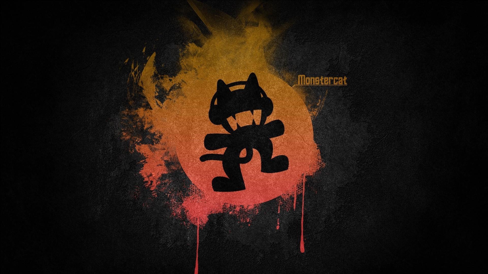 Black music red multicolor orange simple monstercat electronic wallpaper