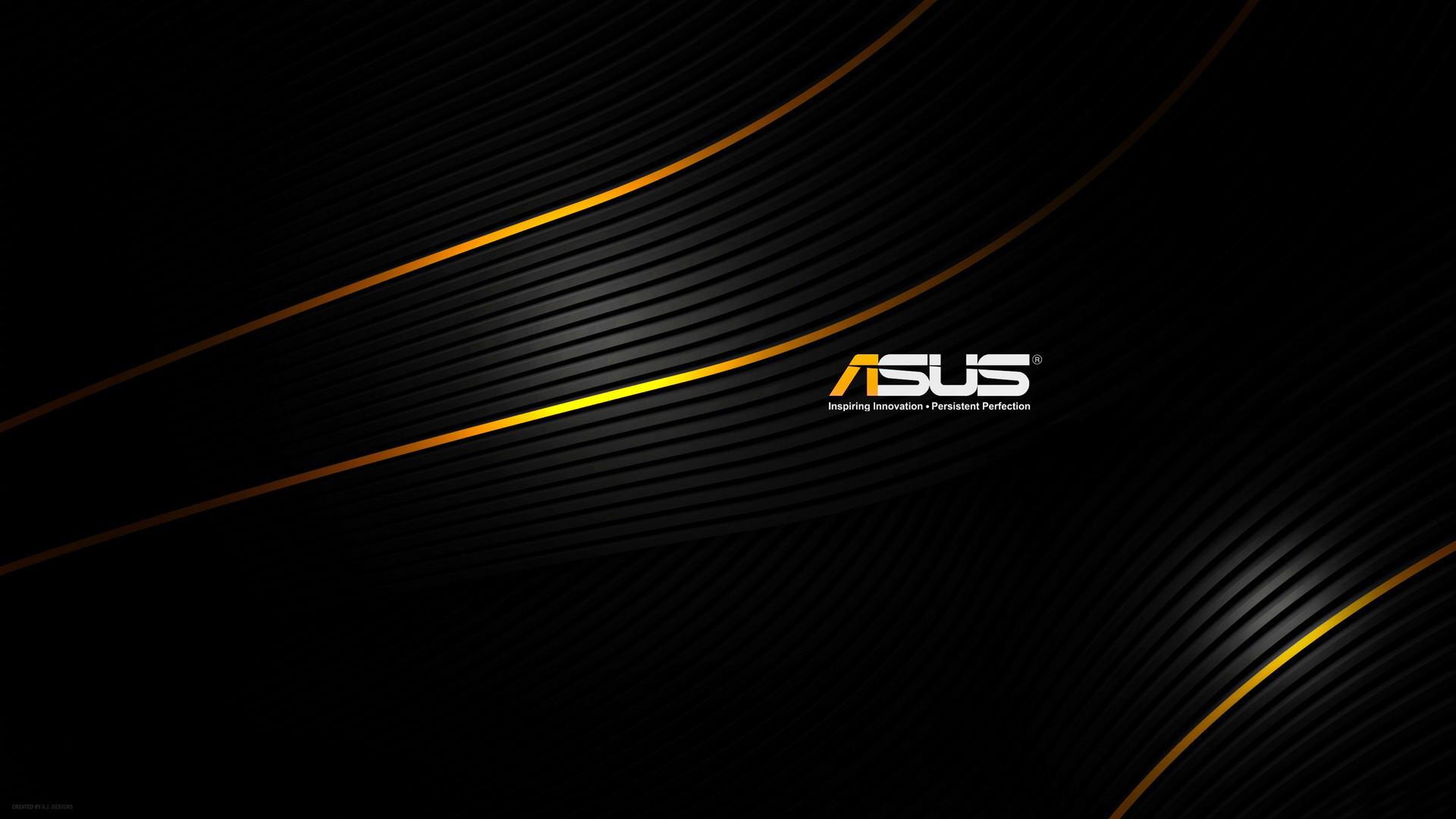 … ASUS Games Logo Orange Lines On Black Background HD wallpaper for free