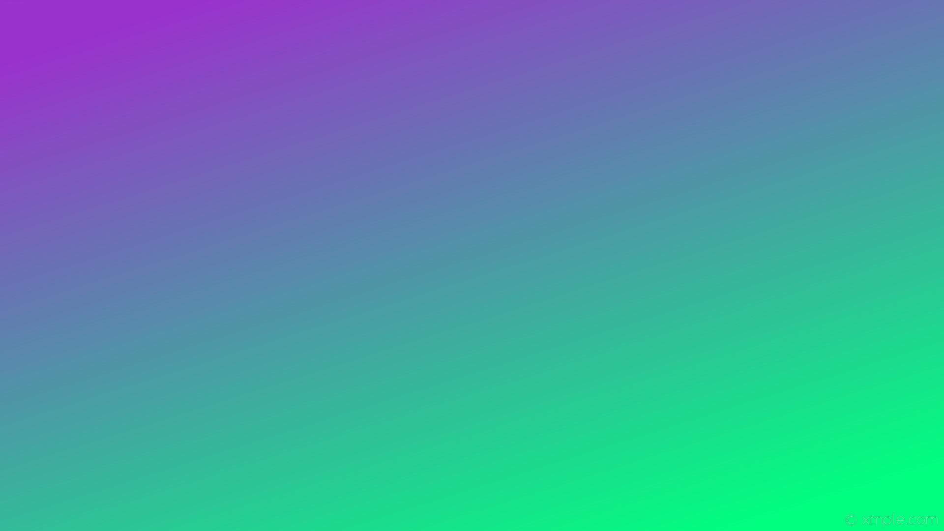 wallpaper green gradient linear purple spring green dark orchid #00ff7f  #9932cc 315°