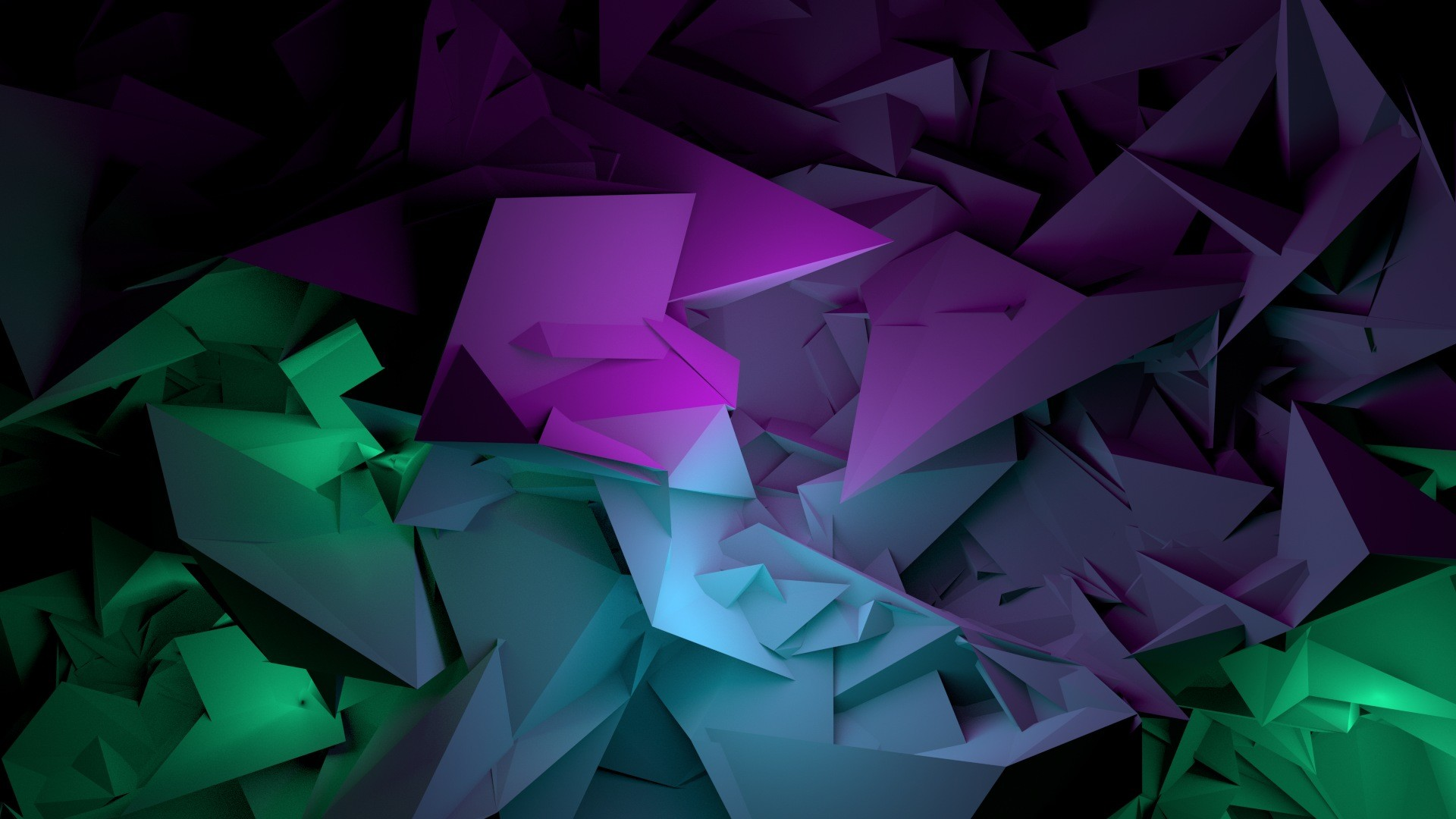 Wallpaper abstract, shapes, purple, green