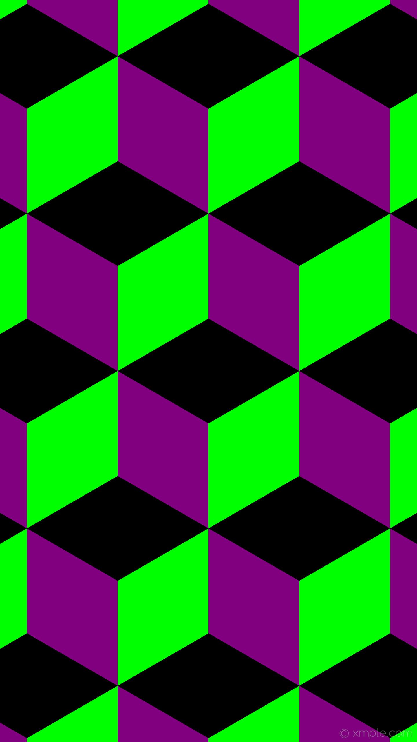 wallpaper green 3d cubes purple black lime #000000 #800080 #00ff00 180°  362px
