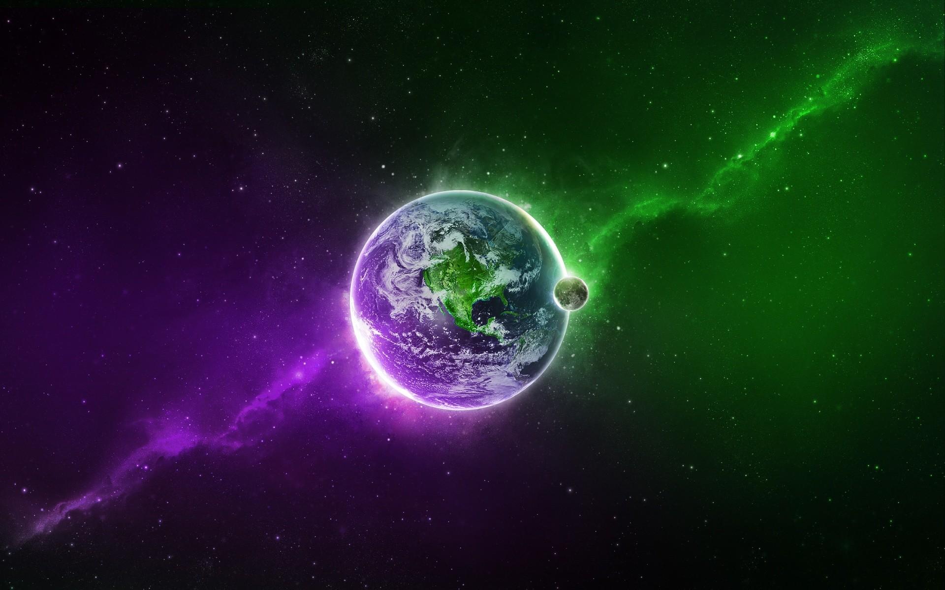 Purple &Amp; Green Wallpaper