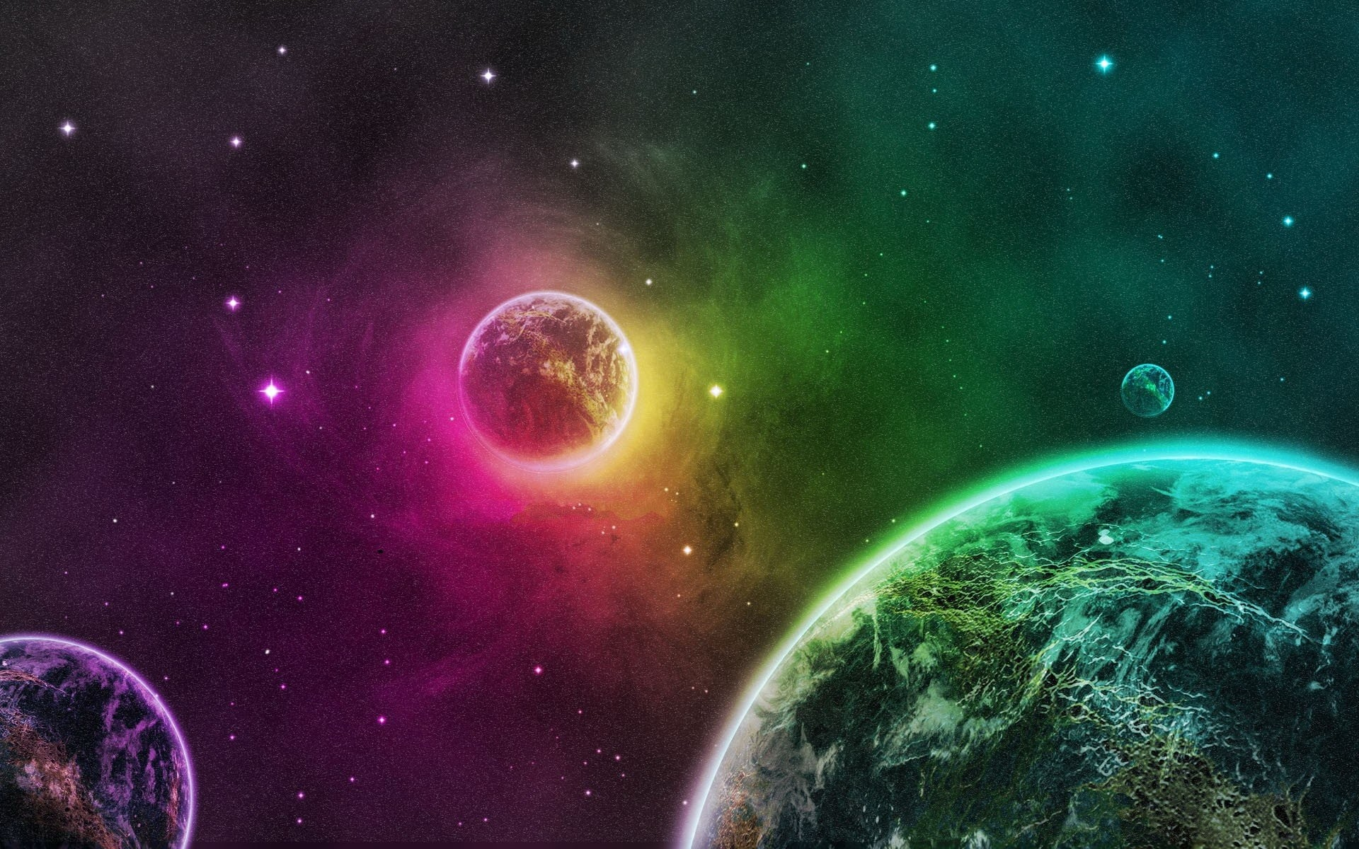 Green outer space planets purple Earth wallpaper | | 235811 |  WallpaperUP
