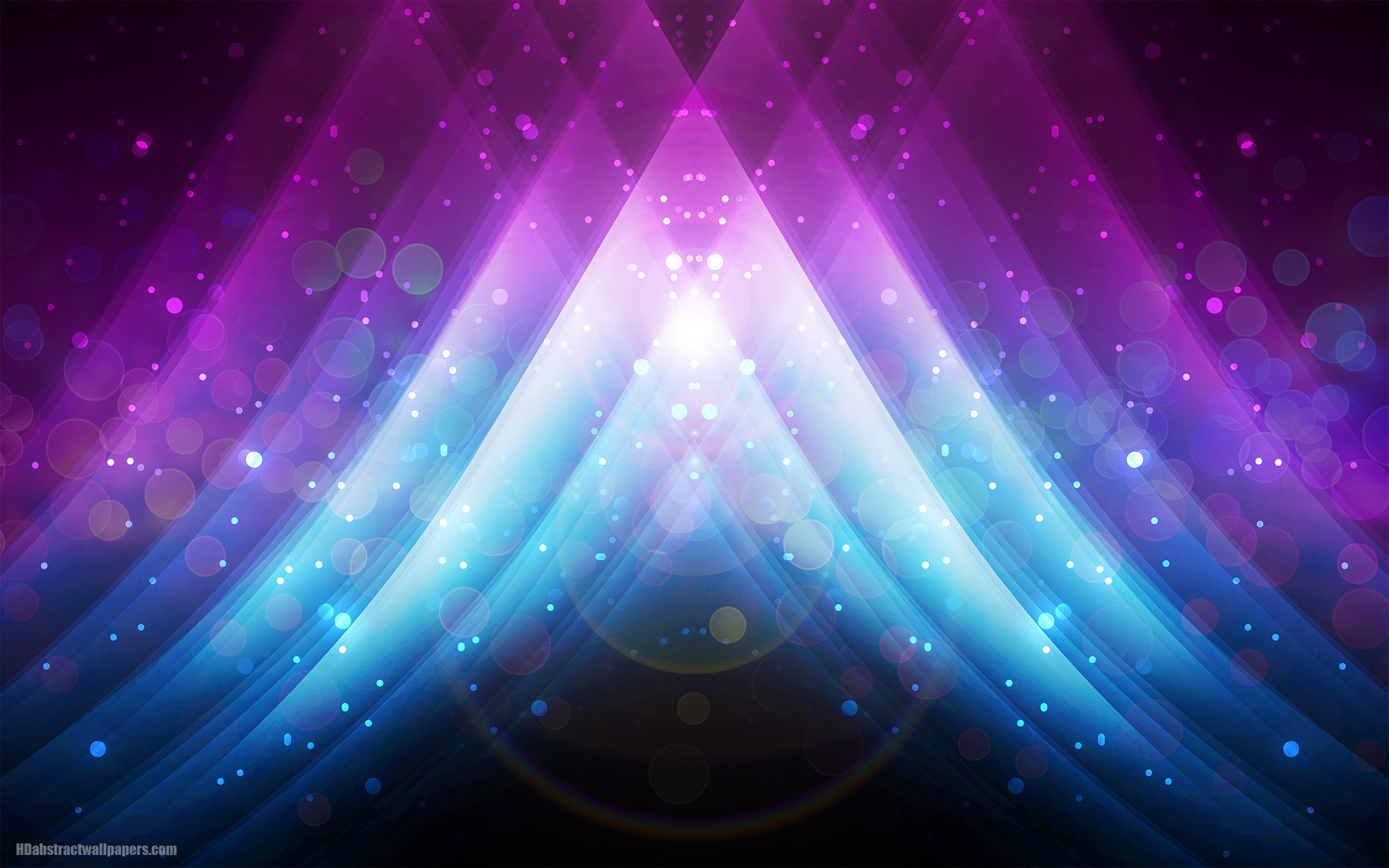 Abstract blue wallpaper with beautiful colors, lights, lines and circles.  With the colors