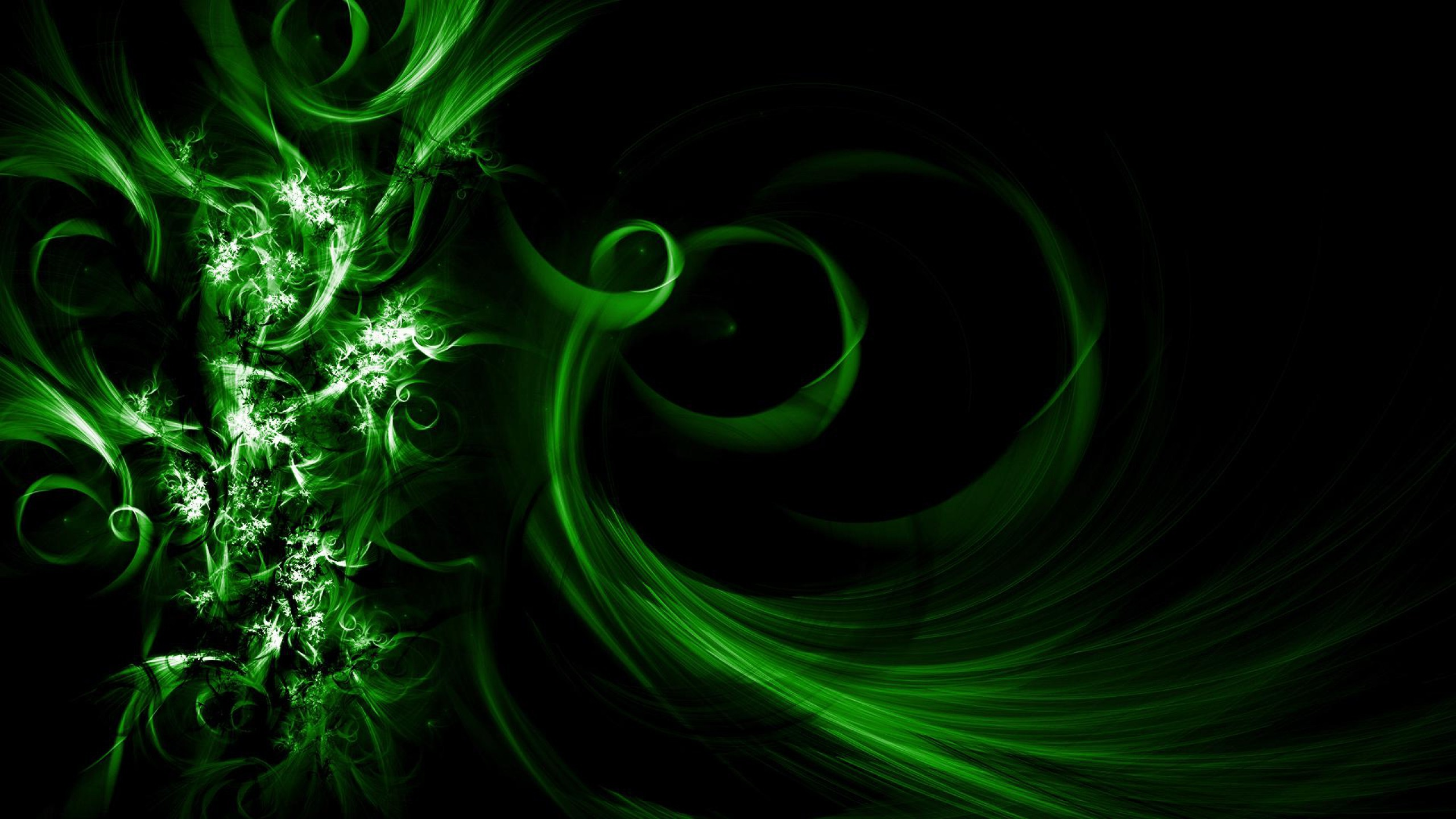 Cool Abstract Wallpaper with an Image of Dark Green Waves – HD Wallpapers  for Free