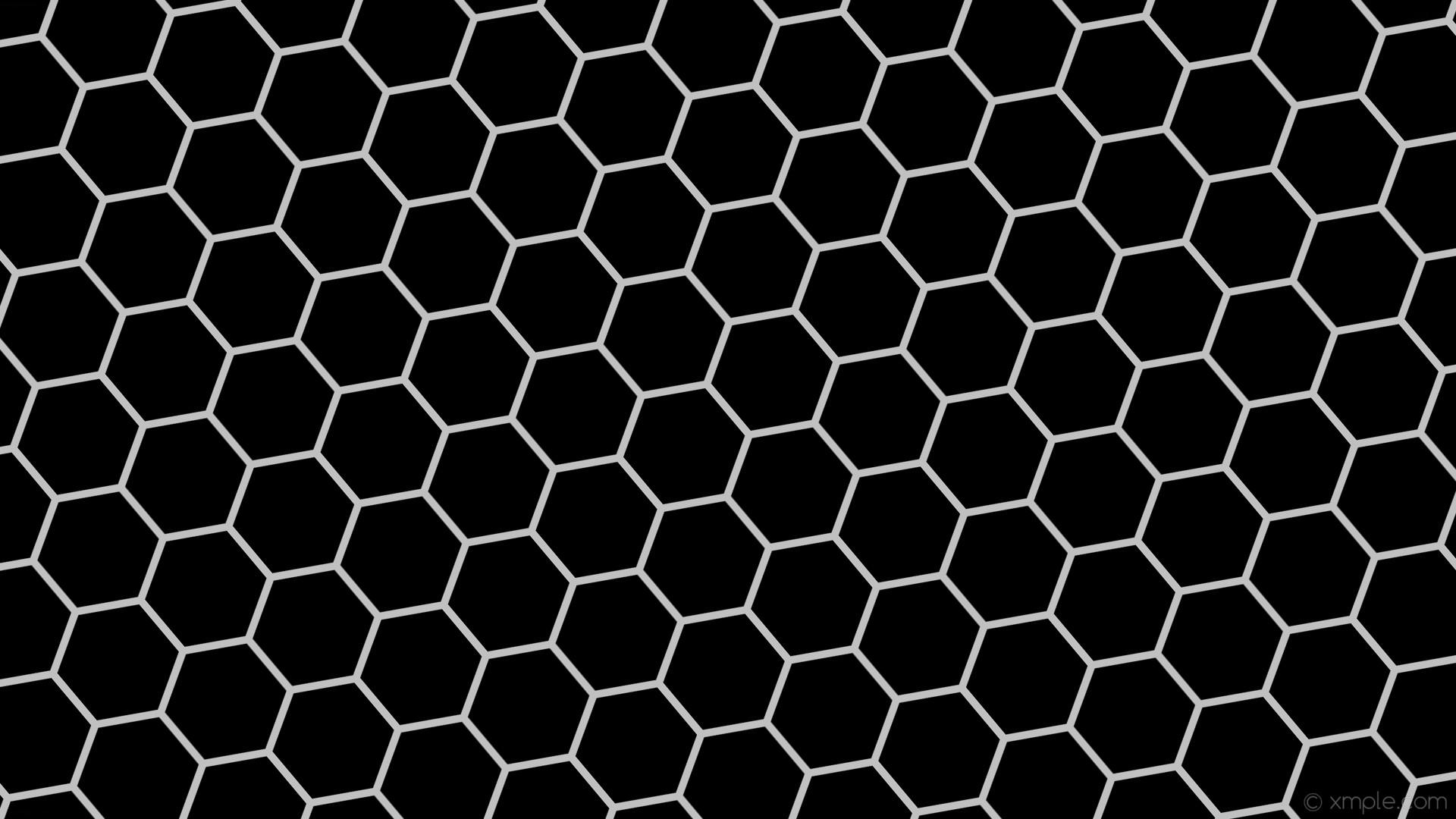 wallpaper beehive grey honeycomb hexagon black silver #000000 #c0c0c0  diagonal 40° 10px 151px