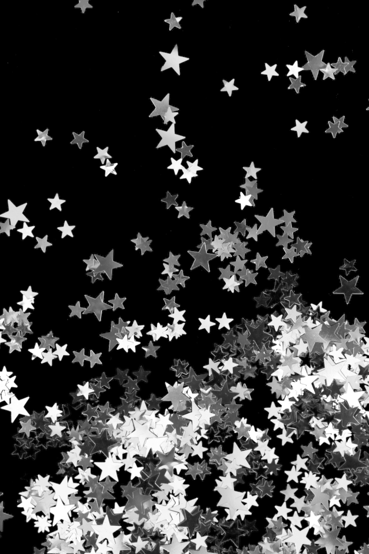 silver star background
