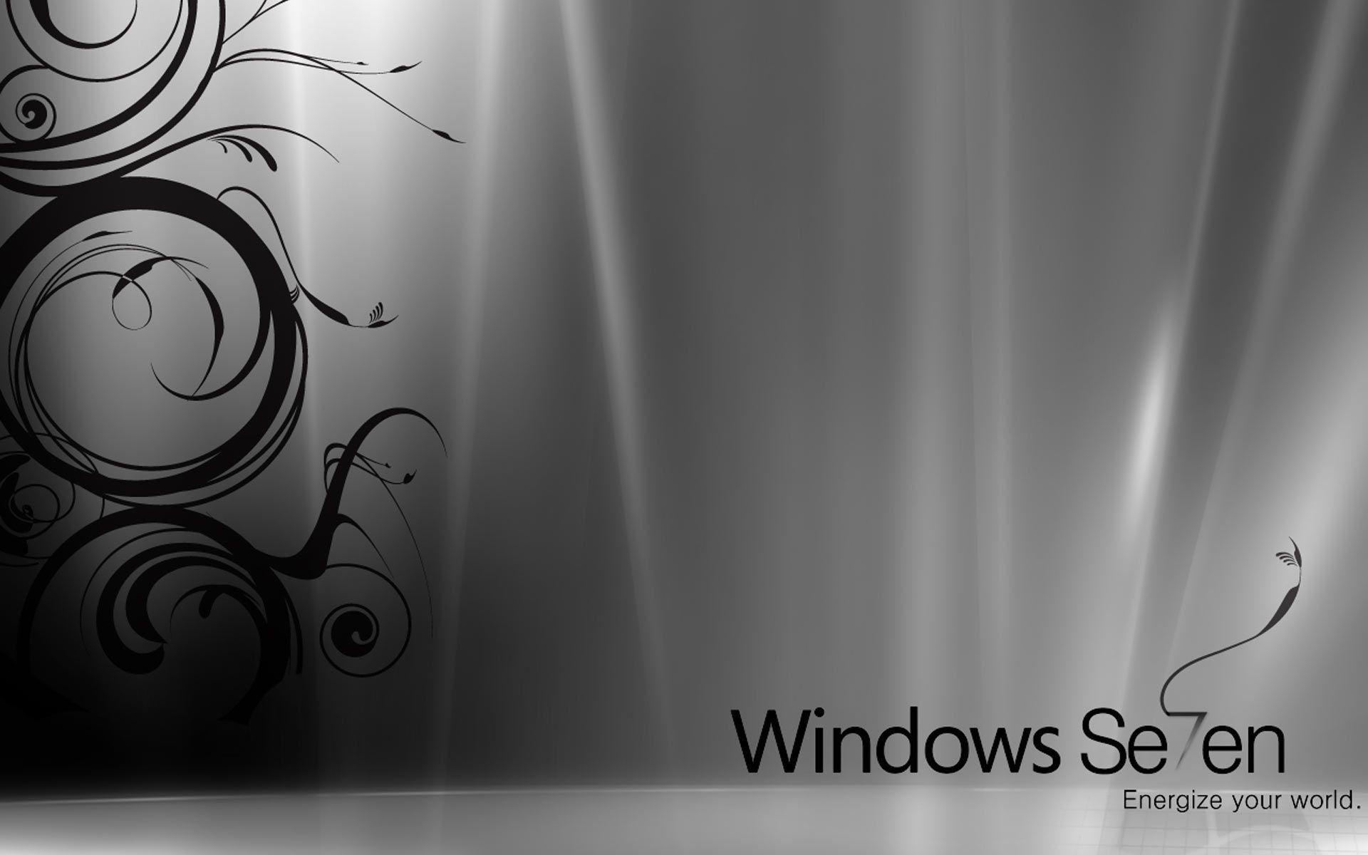 Desktop Wallpaper · Gallery · Windows 7 · Silver free windows 7 .