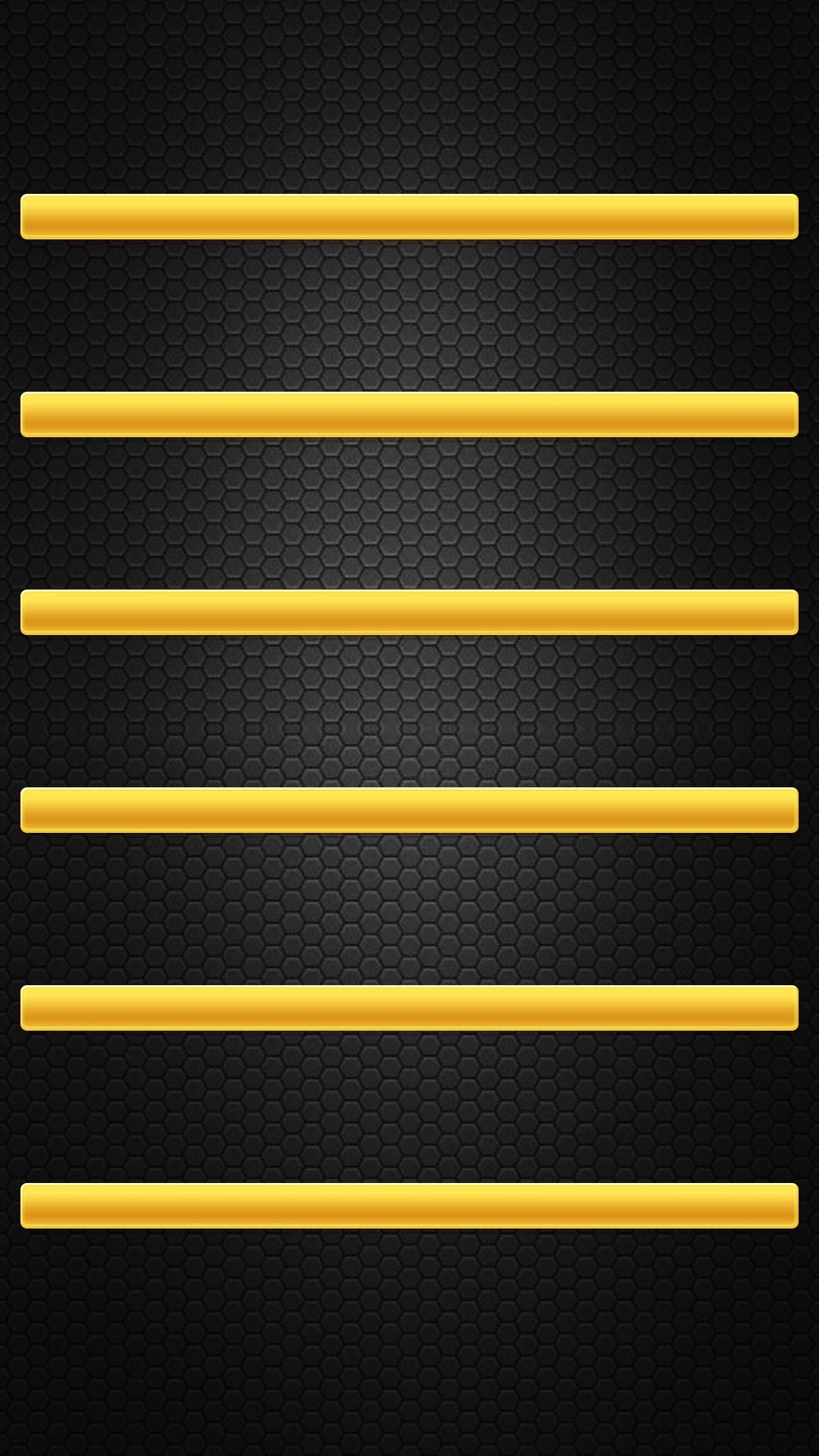 Shelves Simple Black Yellow Minimalistic HD iPhone