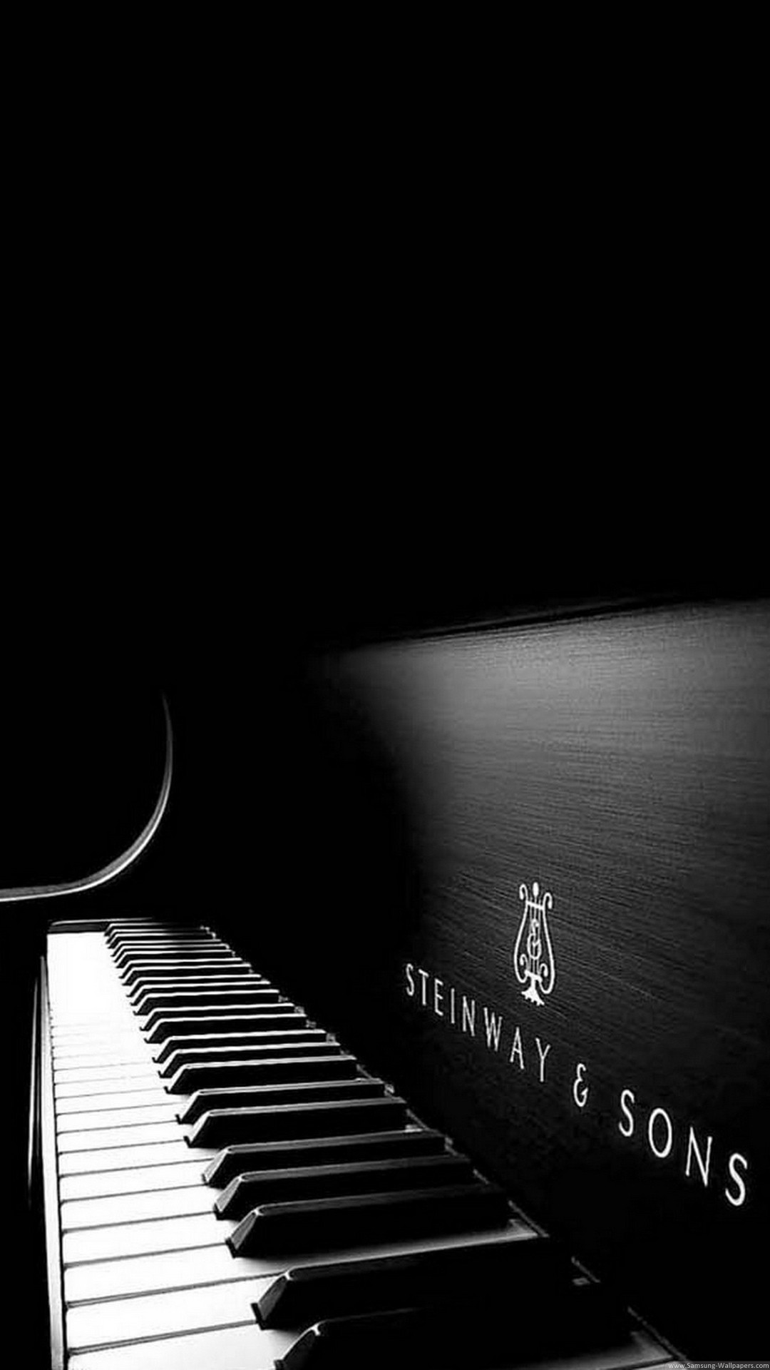 Steinway And Sons Black Piano iPhone 7 Plus HD Wallpaper