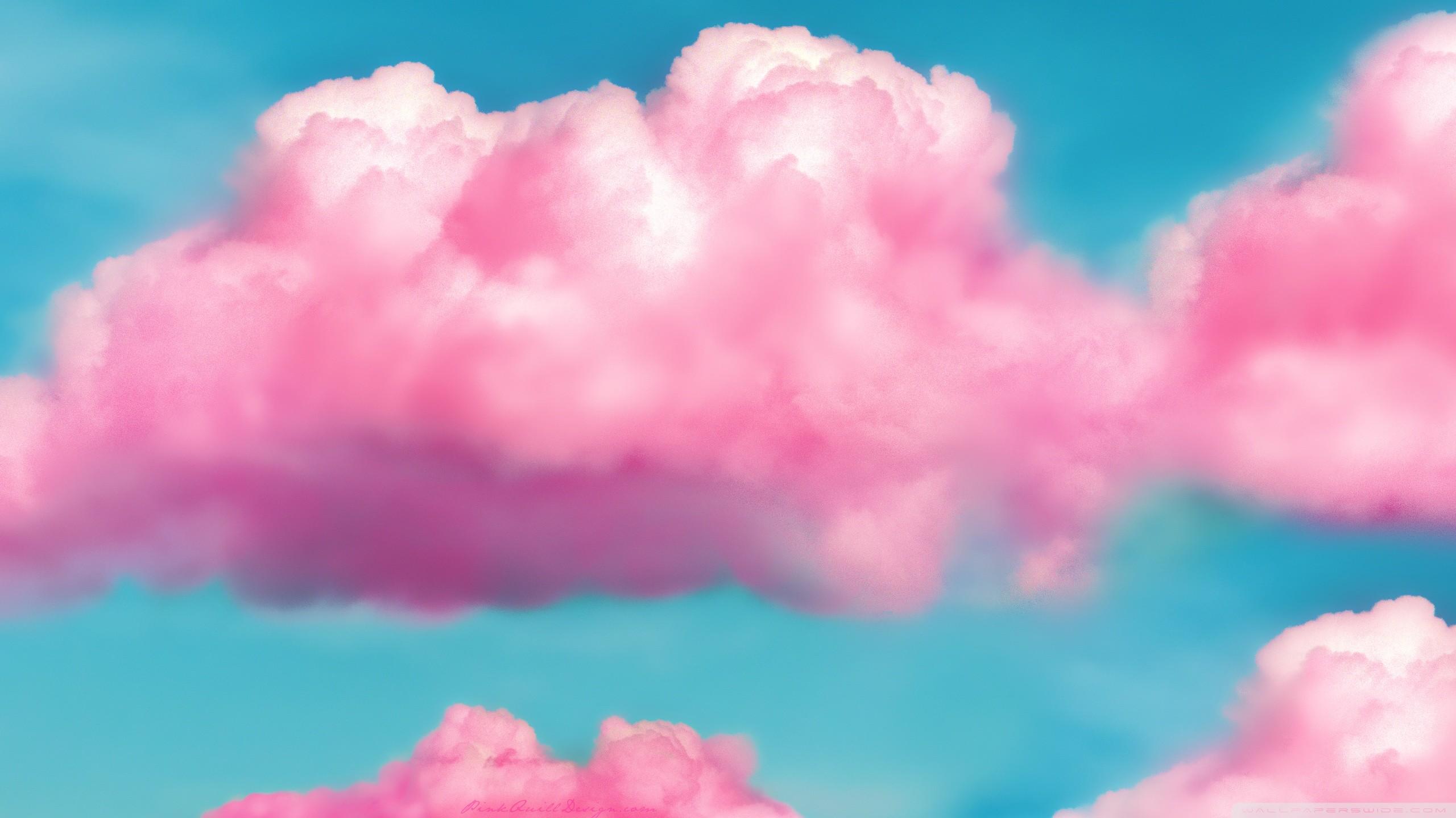 … pink fluffy clouds hd desktop wallpaper widescreen high …