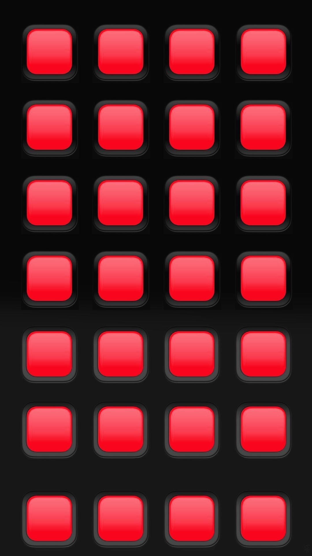 iPhone 7 Plus Wallpaper Homescreens plus black red squares