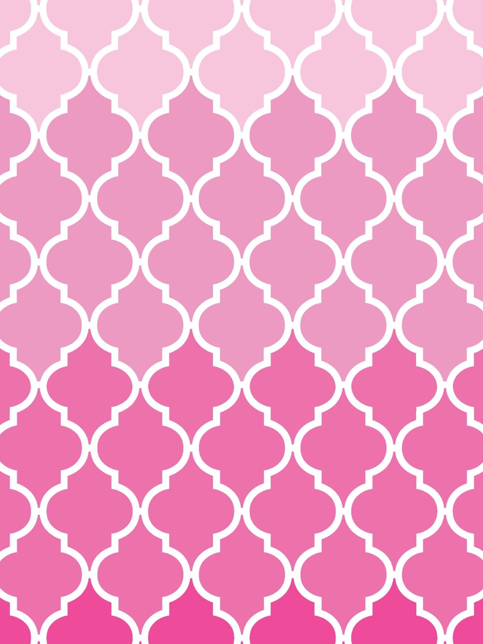Ombre Latticework iPad Air 2 Wallpaper – Pink White