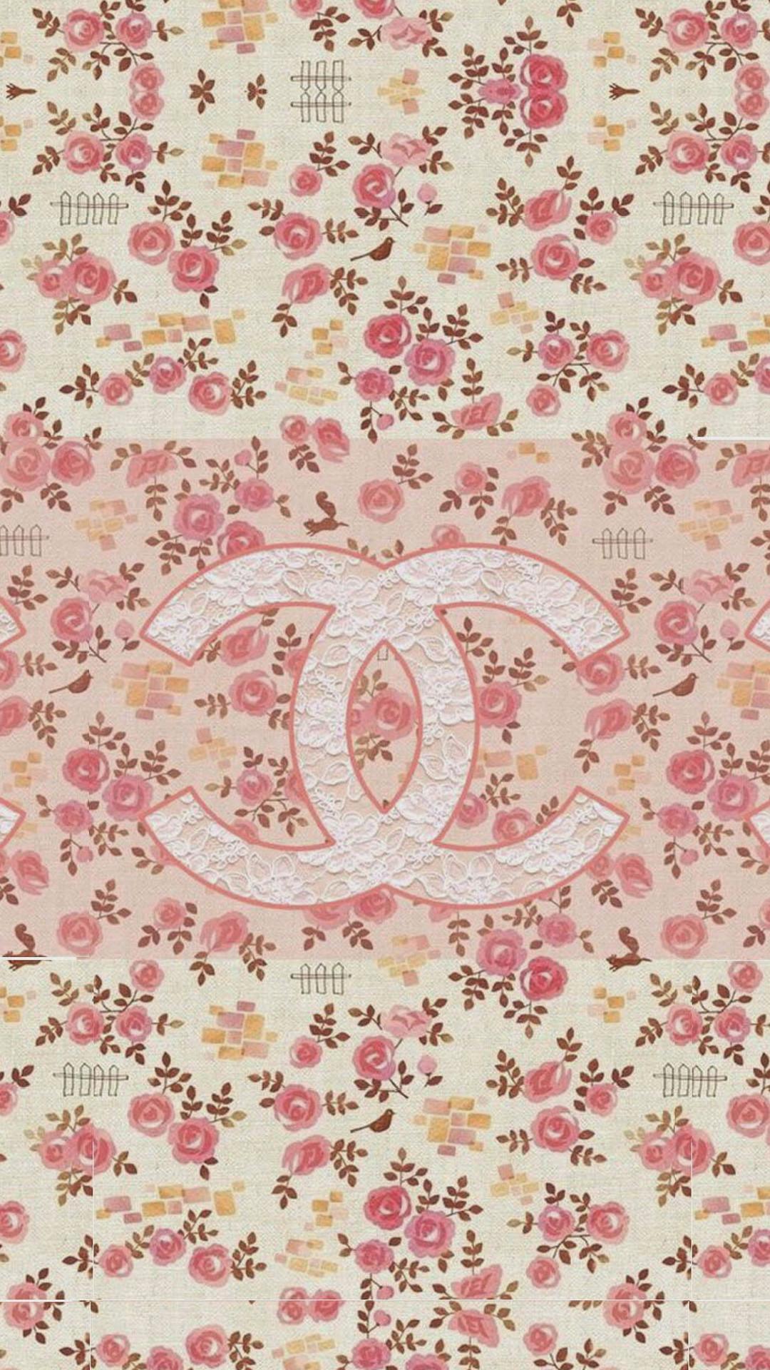 Coco Chanel Flowers Pattern Logo #wallpaper