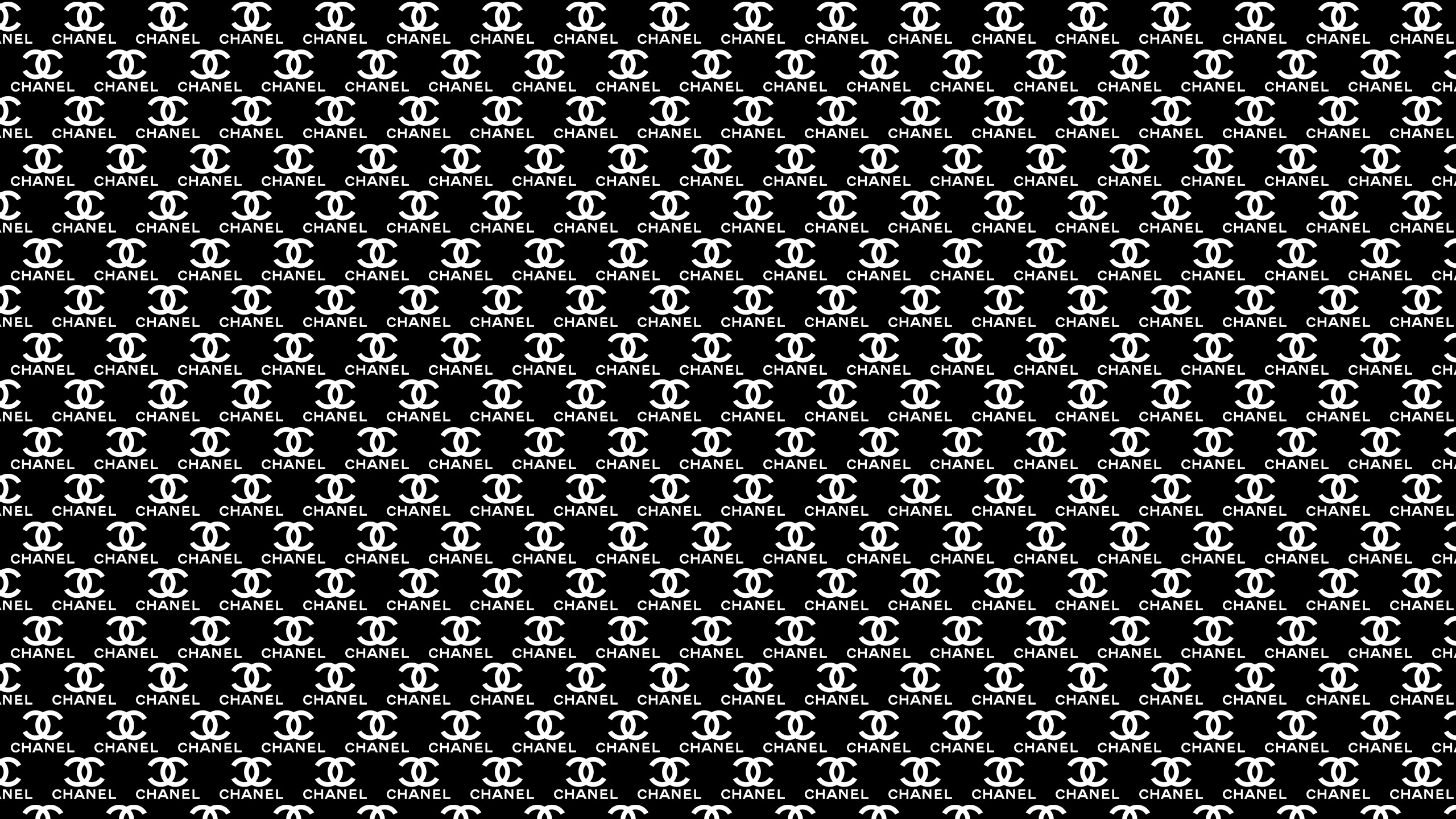 Black White Chanel Desktop Wallpaper