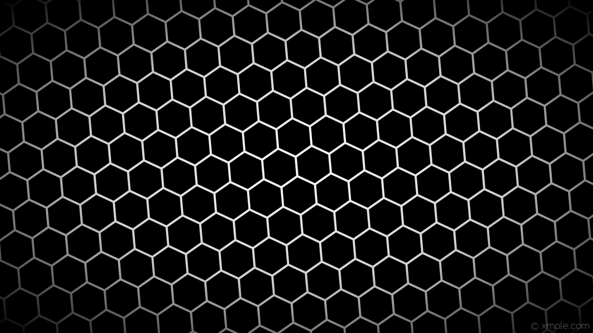 wallpaper black hexagon white gradient glow grey light gray #000000 #ffffff  #d3d3d3 diagonal