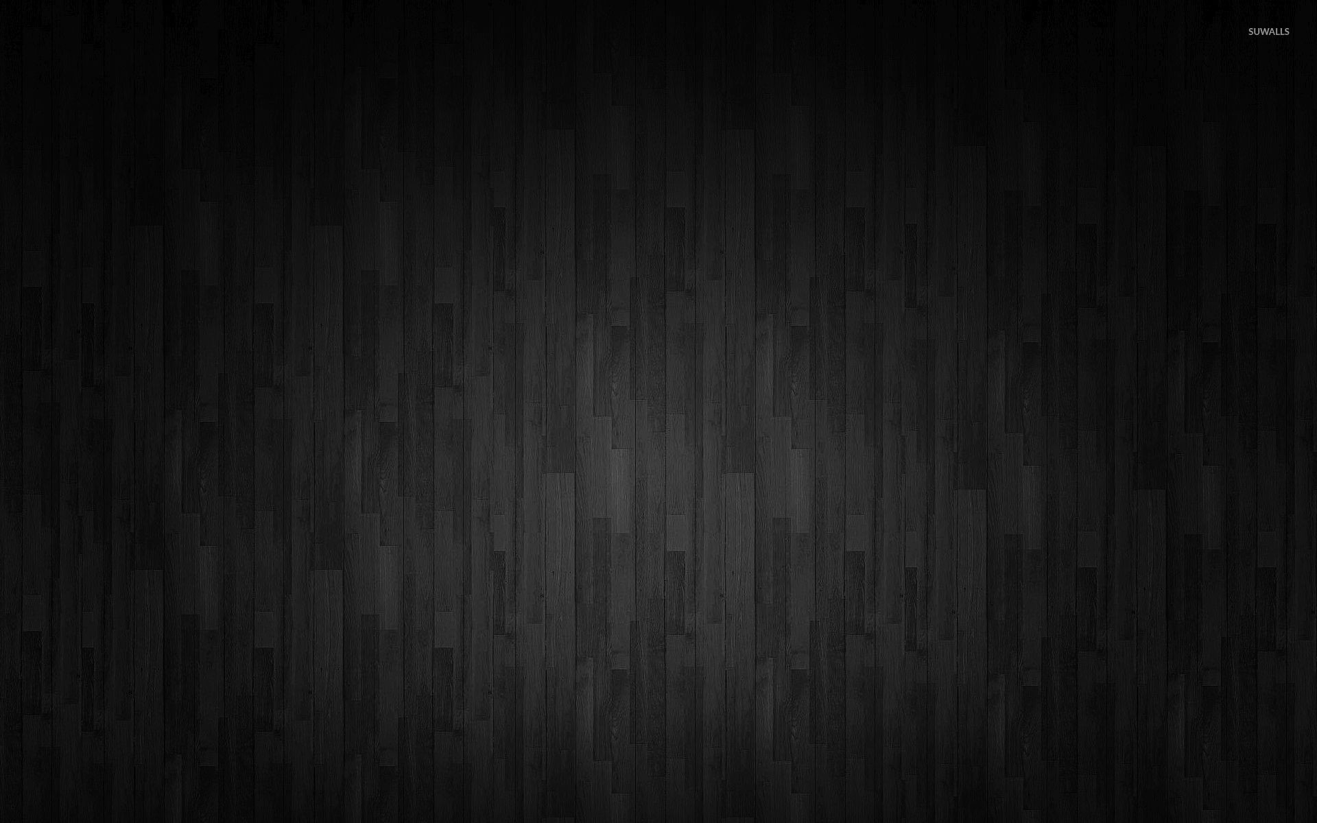 Horizontal dark gray wooden panels wallpaper