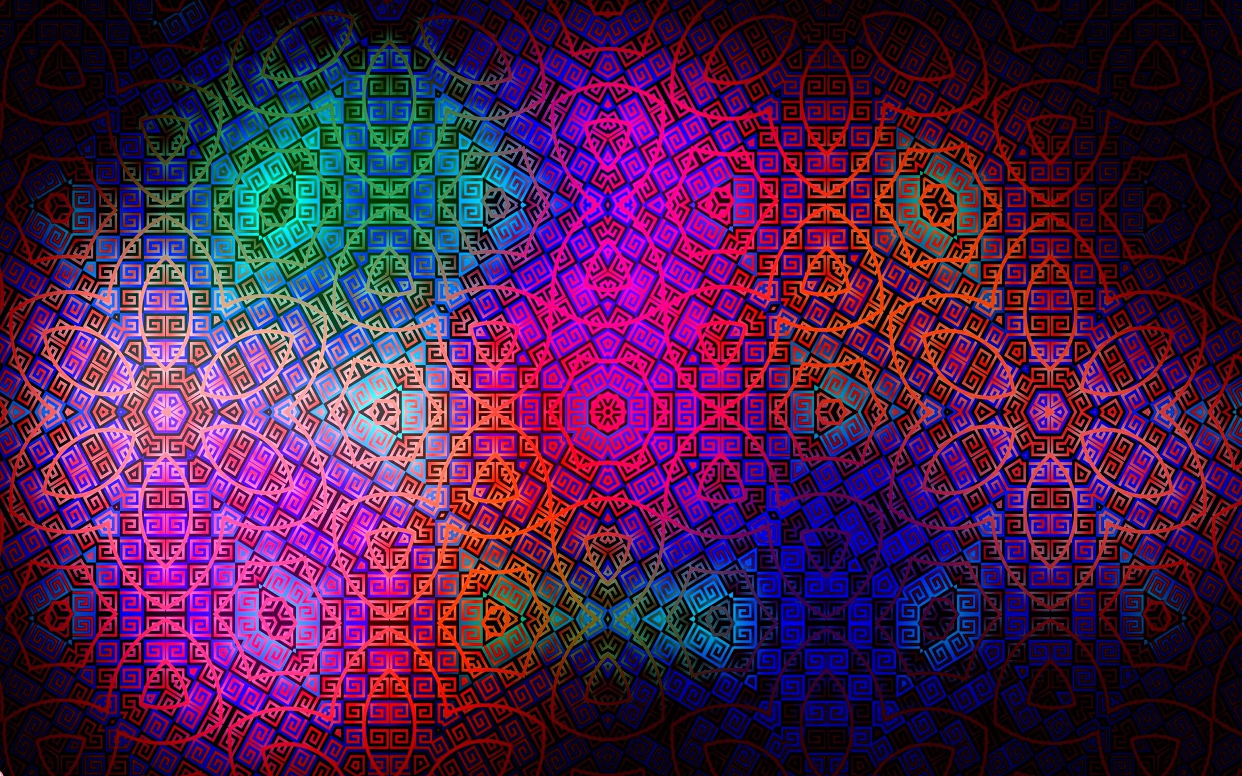 Wallpaper pattern, color, colorful, dark