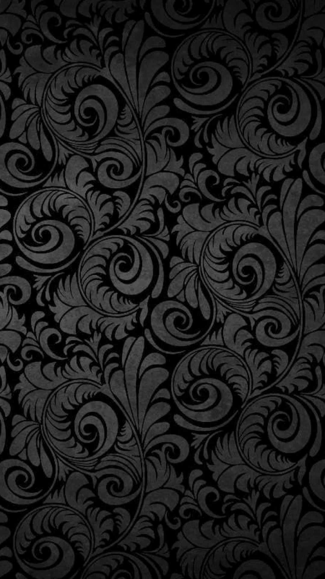 black wallpaper for android there-she-goes-floral-pattern
