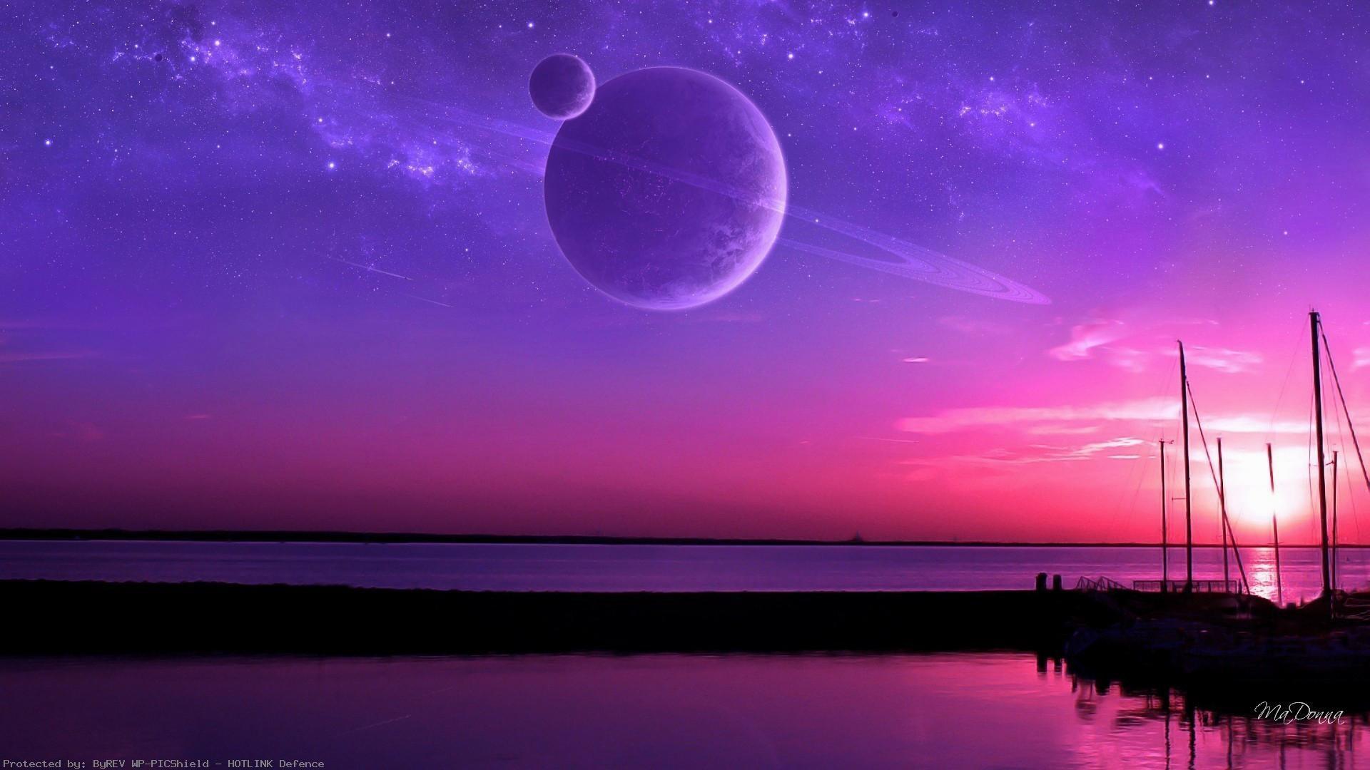 sky-beautiful-lavender-evening-sunset-water-pink-sun-