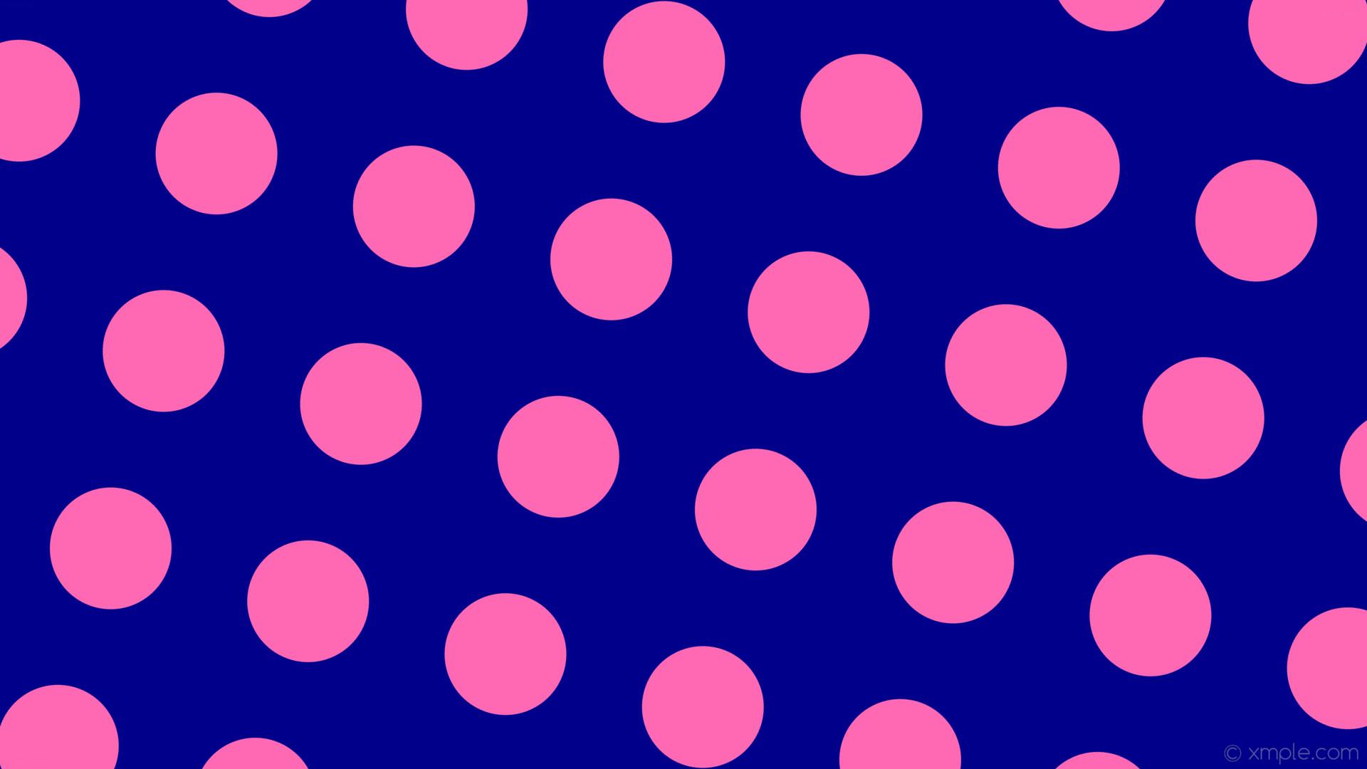 wallpaper spots blue pink polka dots dark blue hot pink #00008b #ff69b4 165°