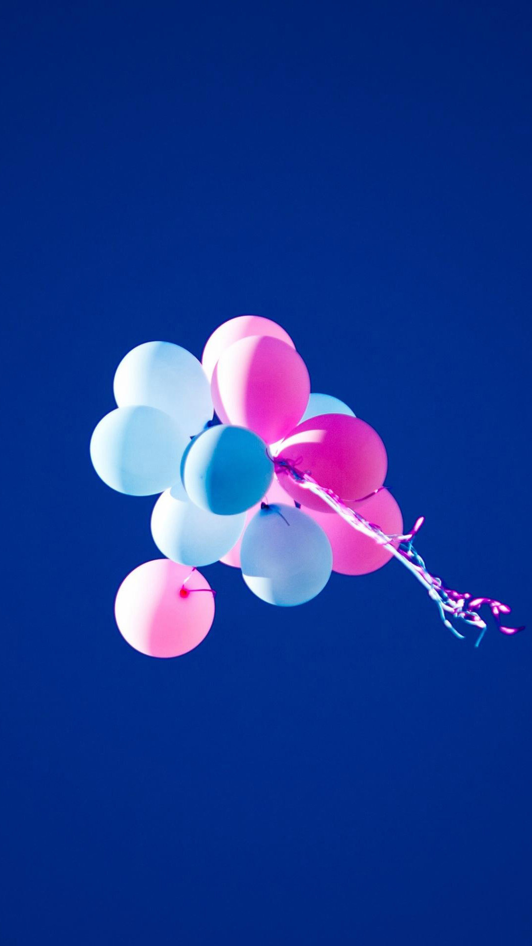 HD Balloons Blue Sky Pink Android Wallpaper …