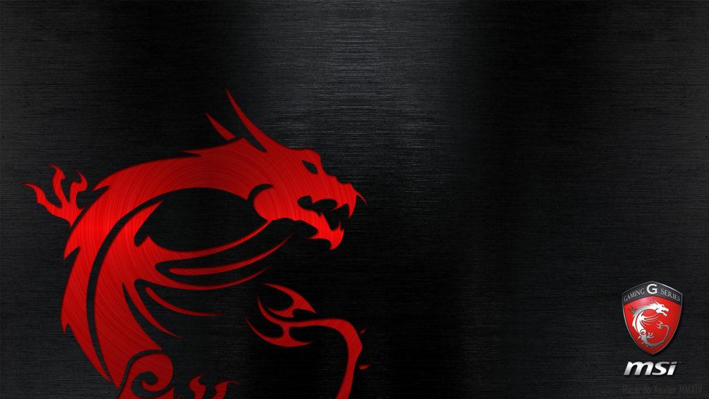 MSI Gaming Wallpaper – red dragon emobossed (1920×1080) | MSI .