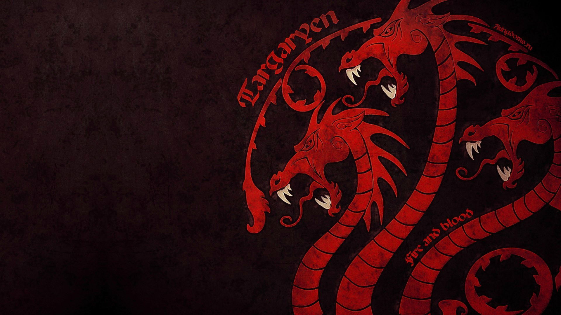 Game Of Thrones House Targaryen Fire And Blood Dragon Sigils Wallpaper