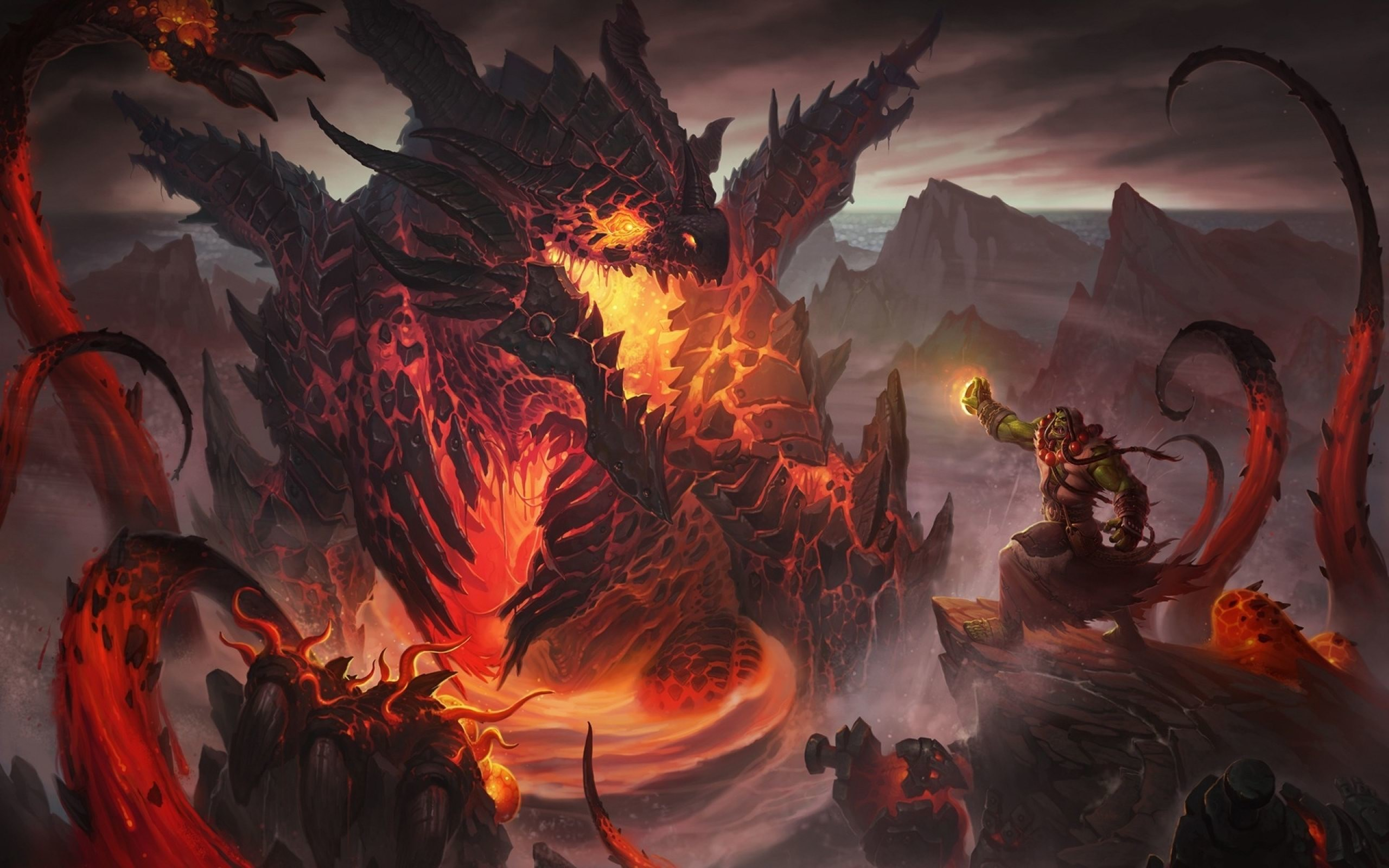 World of Warcraft cataclysm dragons orc thrall wallpaper ( / Wallbase.