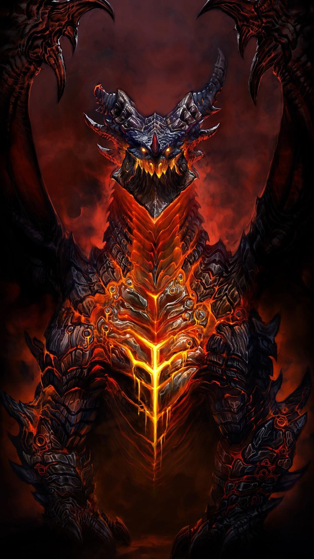 Deathwing world warcraft htc one wallpaper