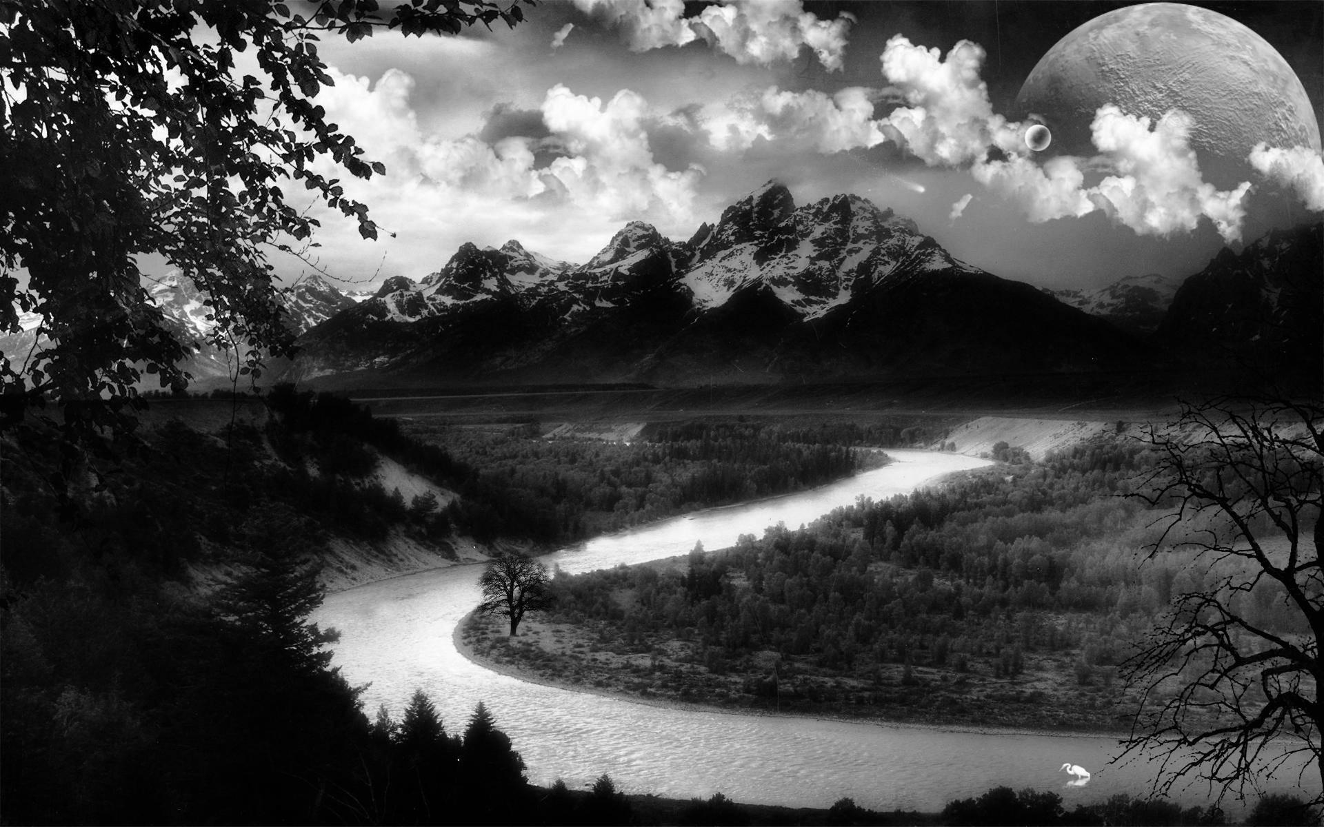 Nature Hd Wallpaper Black And White #8858 Wallpaper   Wallpaper hd