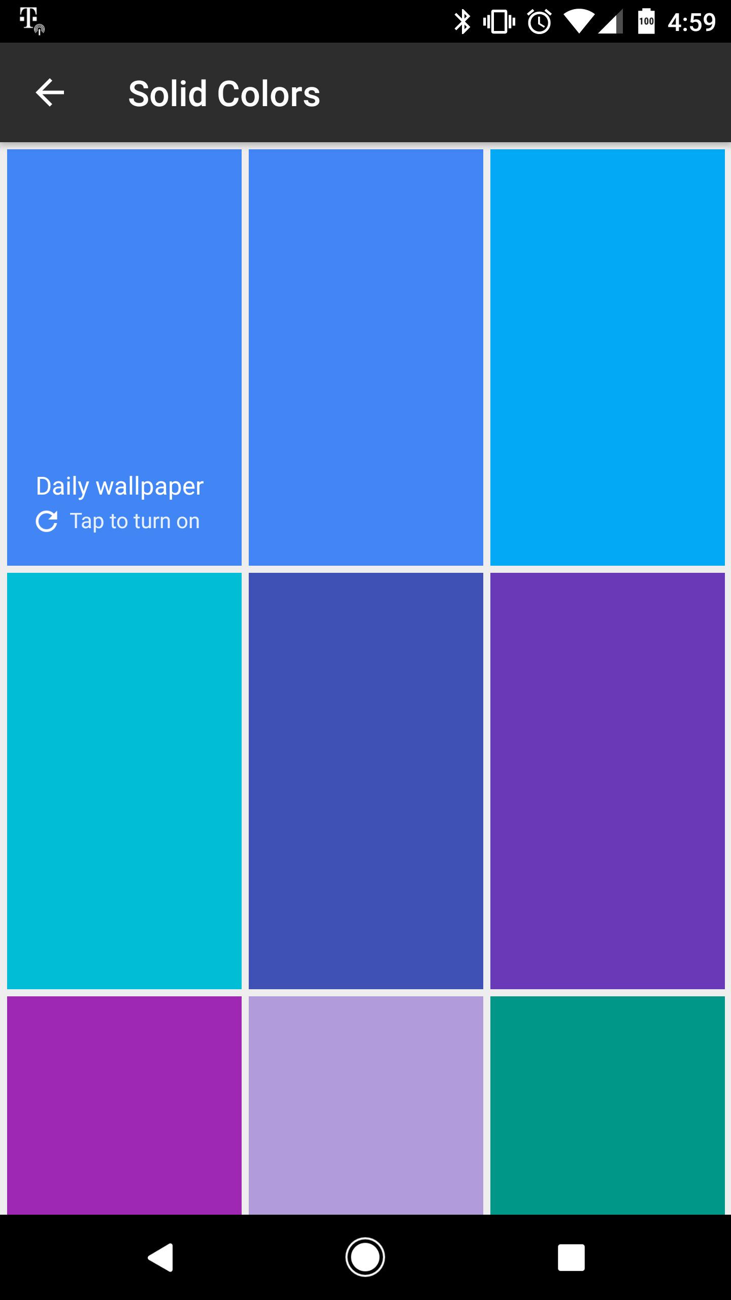 Google Wallpapers Screenshot