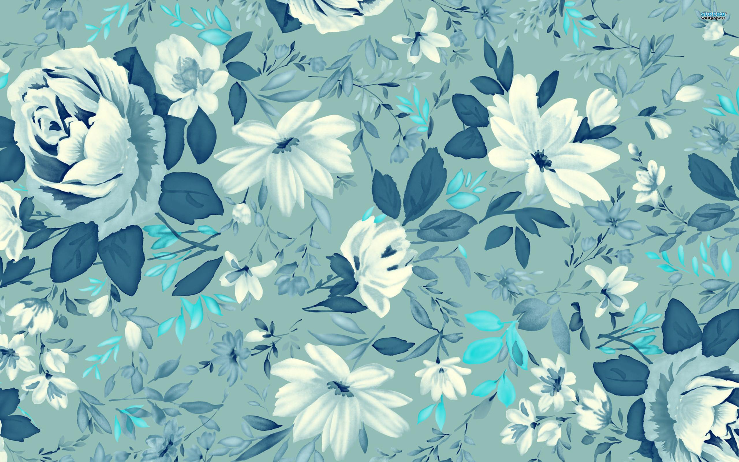 ಌ.blue Flowers Design.ಌ wallpaper free   HD Desktop Wallpapers