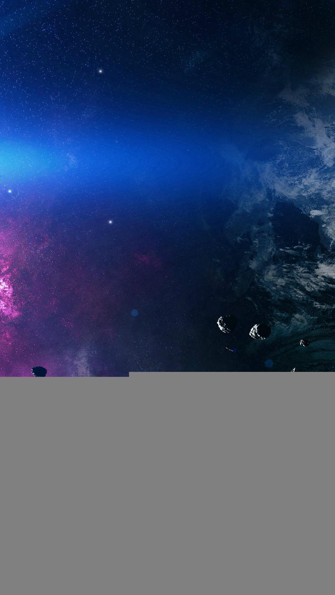 Space Asteroids Belt Purple iPhone 6 Wallpaper Download .