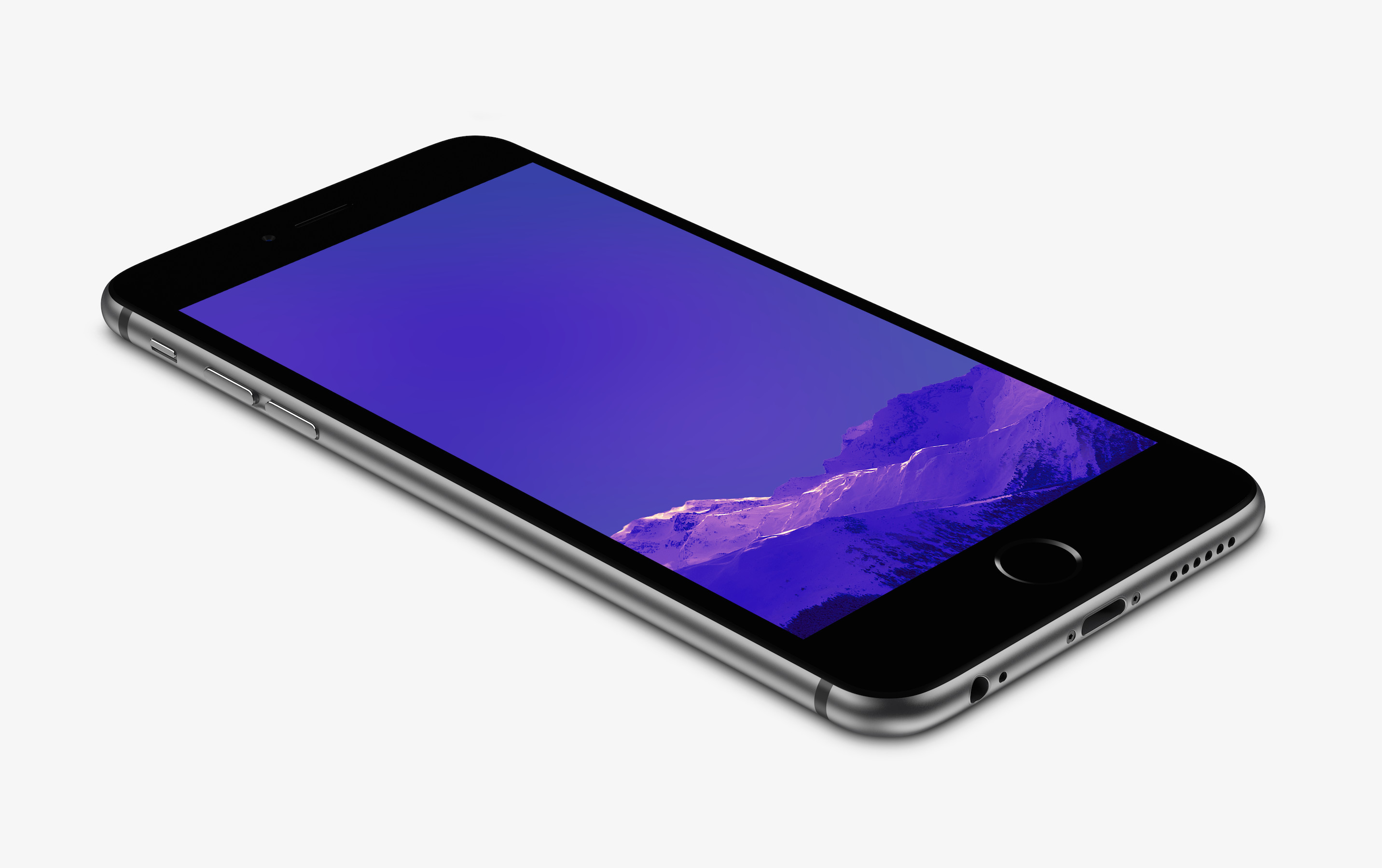 … Purple Mountain Wallpaper for iPhone 6 and 6 Plus by kiwimanjaro