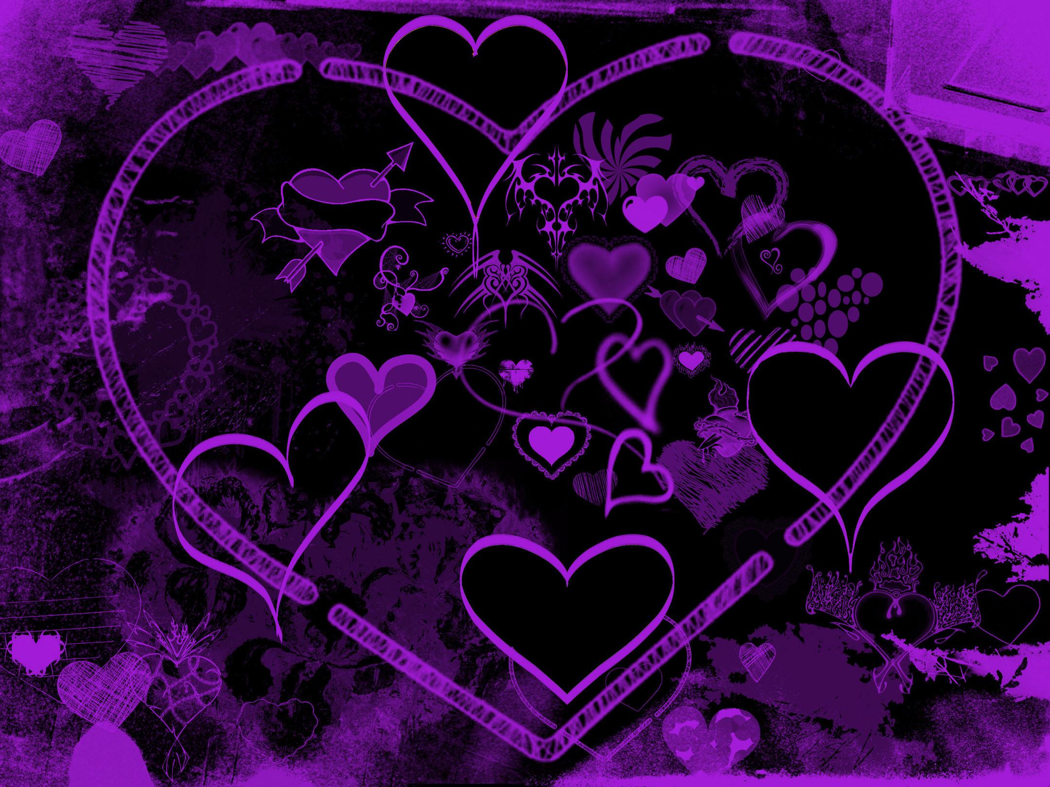 Purple Hearts by Daemonika on DeviantArt