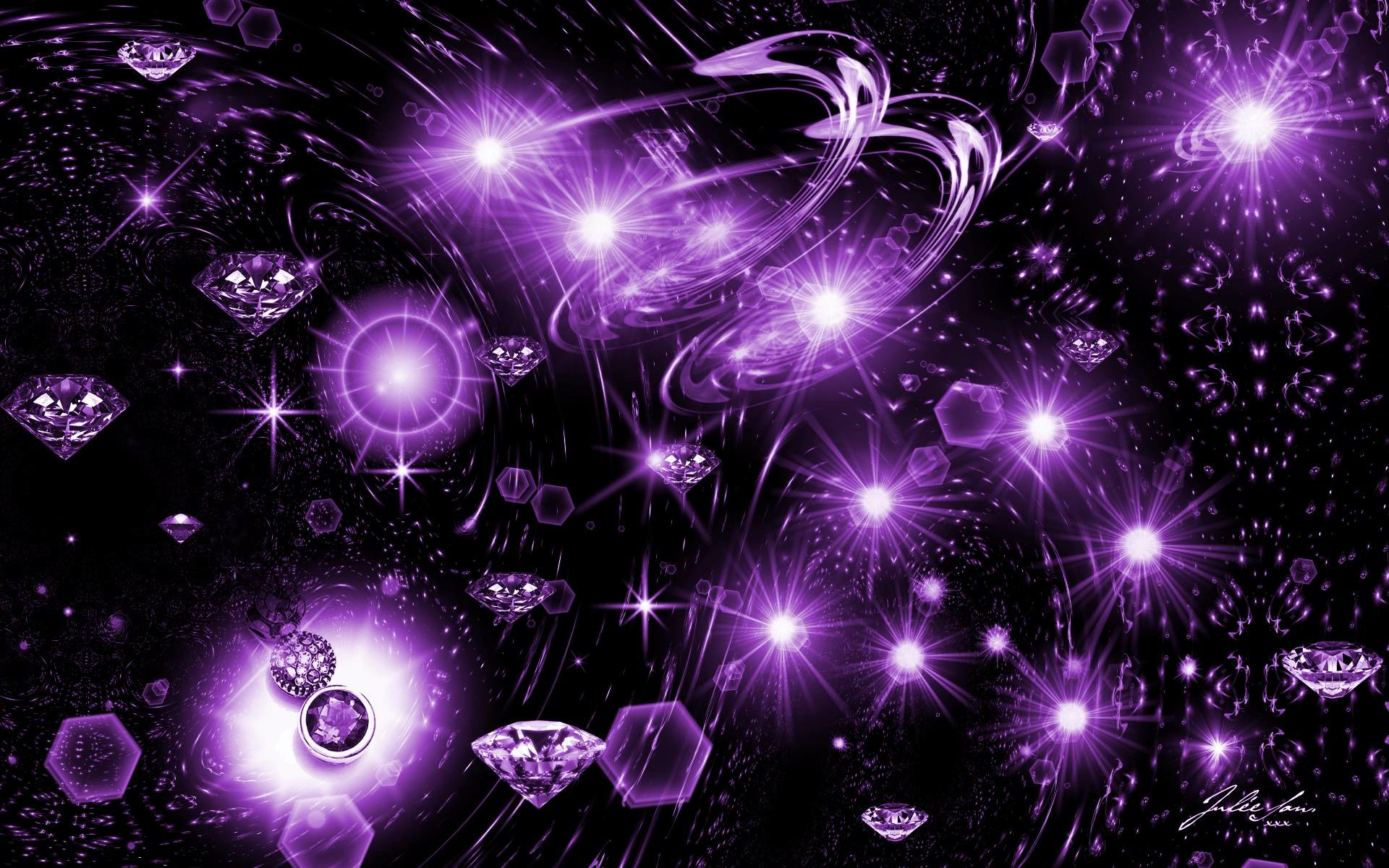 Starry Night Wallpaper – Purple And Black – New by JSSanDA on .