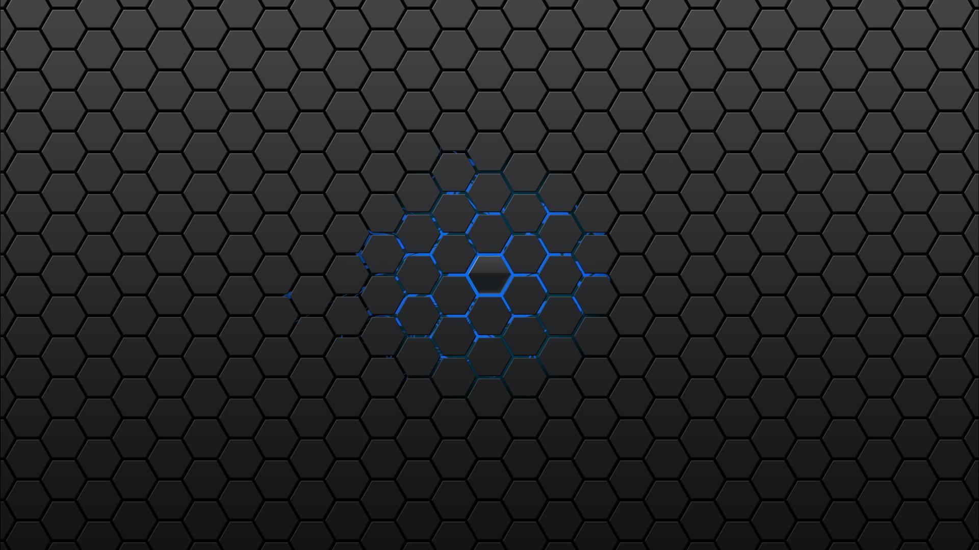 HD Black hexagons Wallpaper