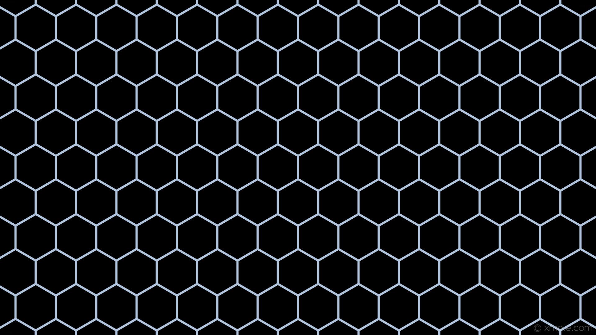 wallpaper beehive honeycomb blue hexagon black light steel blue #000000  #b0c4de 0° 7px