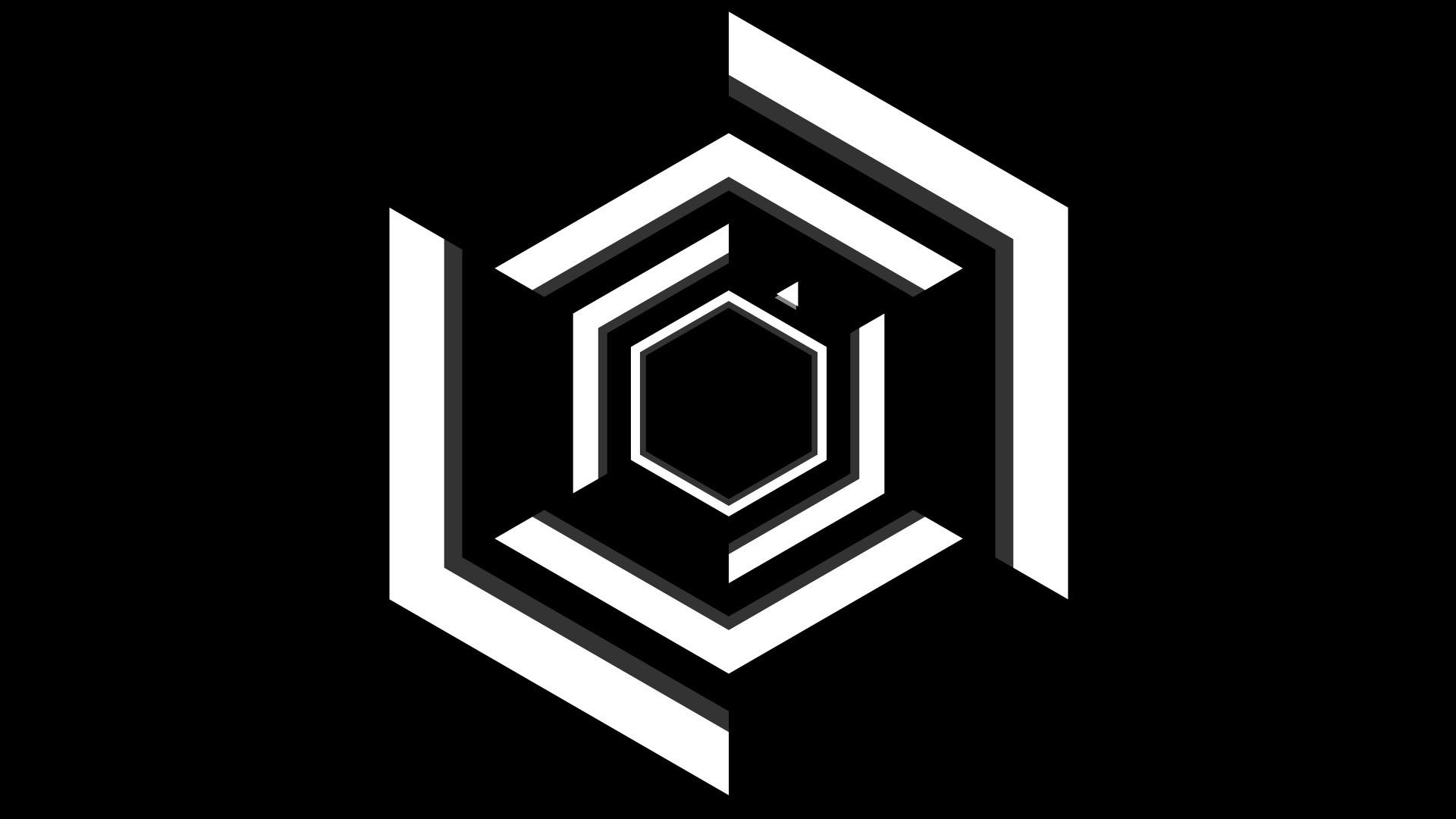 Wallpaper super hexagon, minimalism, black, white wallpapers .